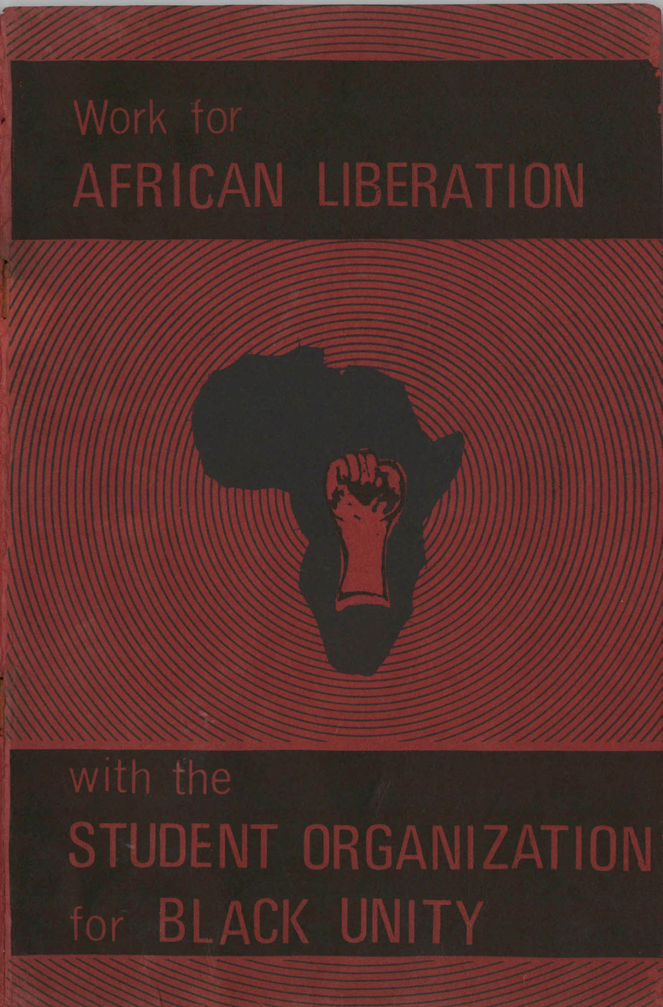 Work for African Liberation, Front Cover
