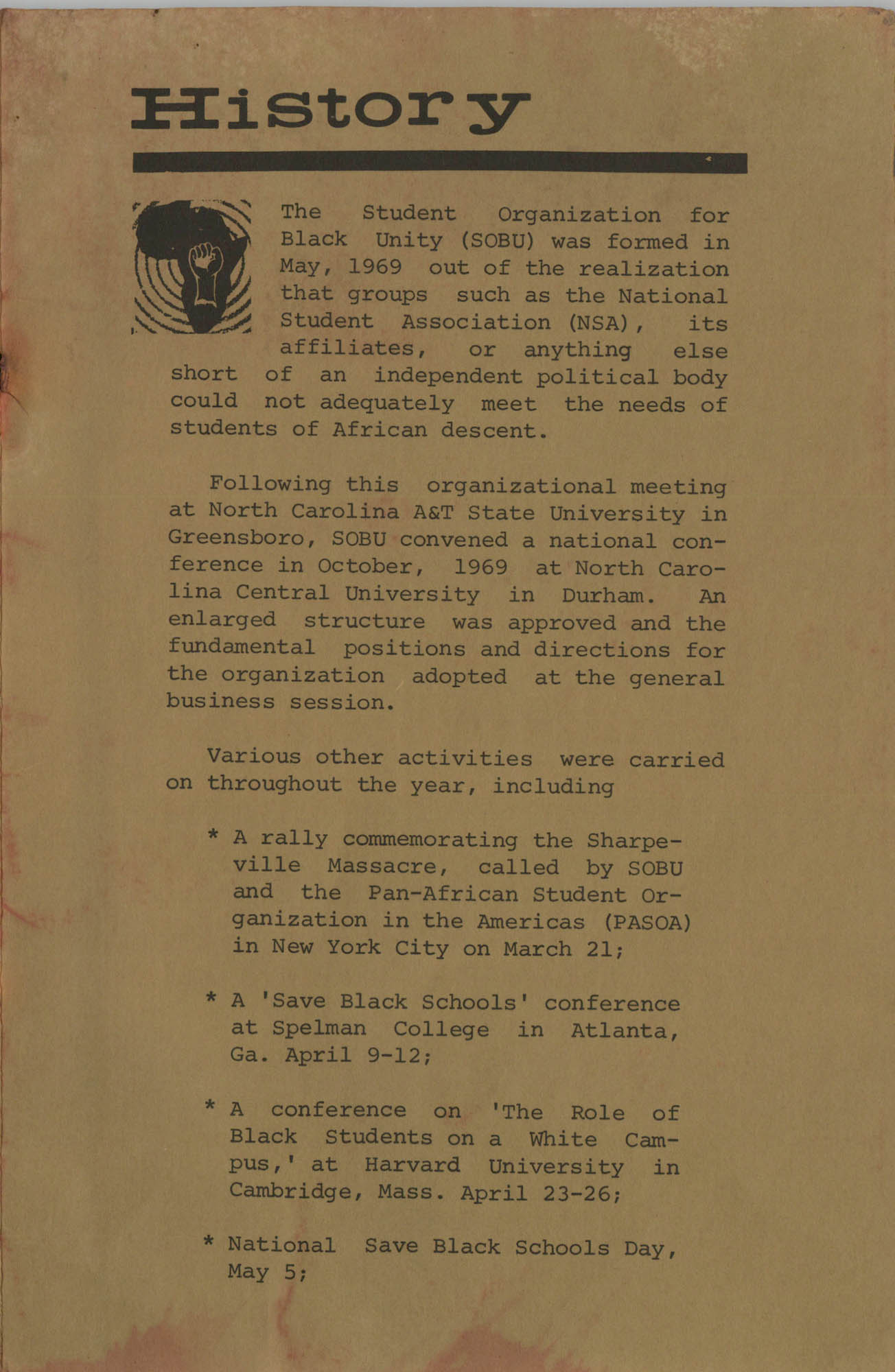 Work for African Liberation, Page 1