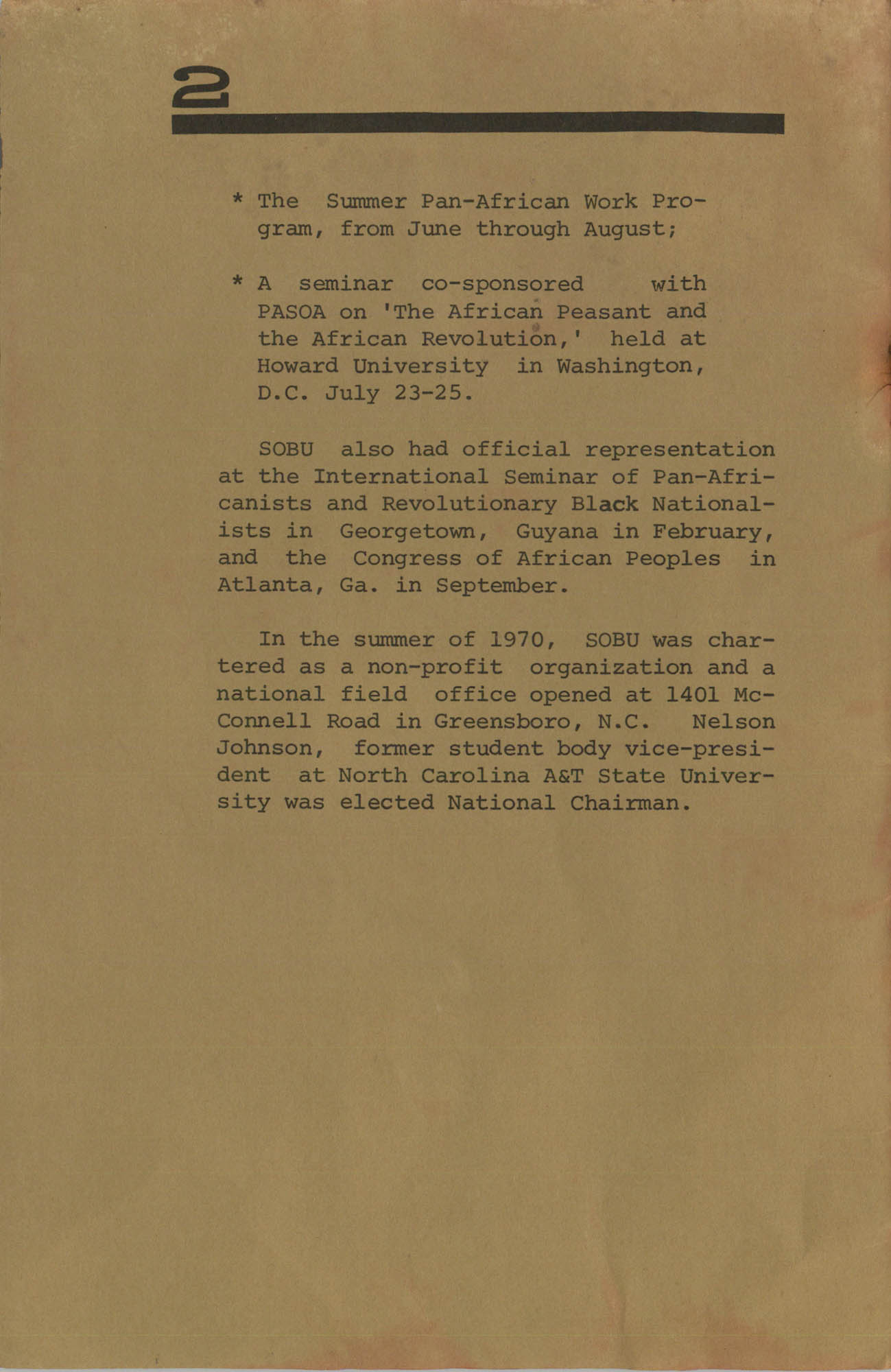 Work for African Liberation, Page 2