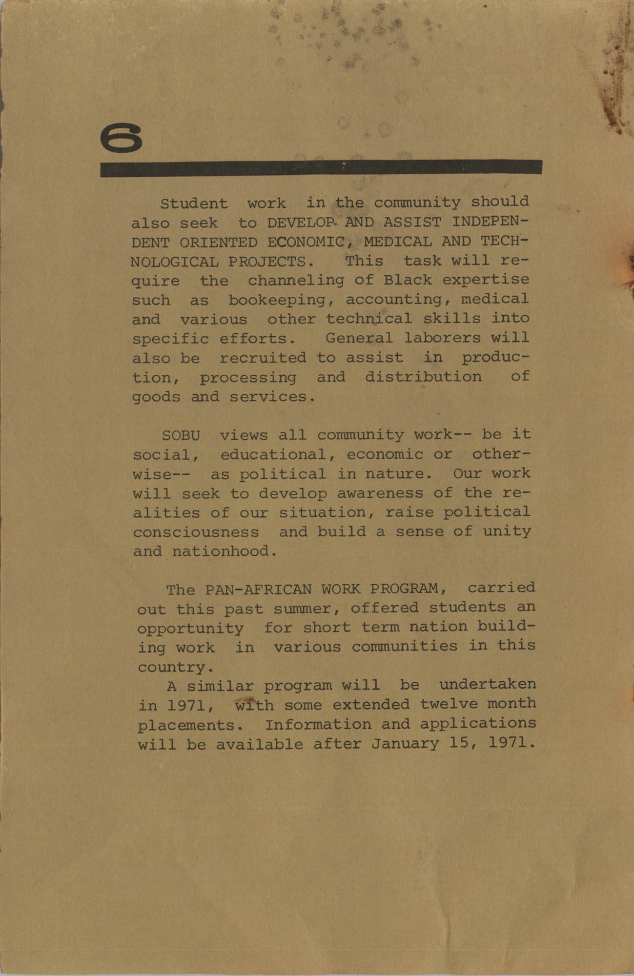 Work for African Liberation, Page 6