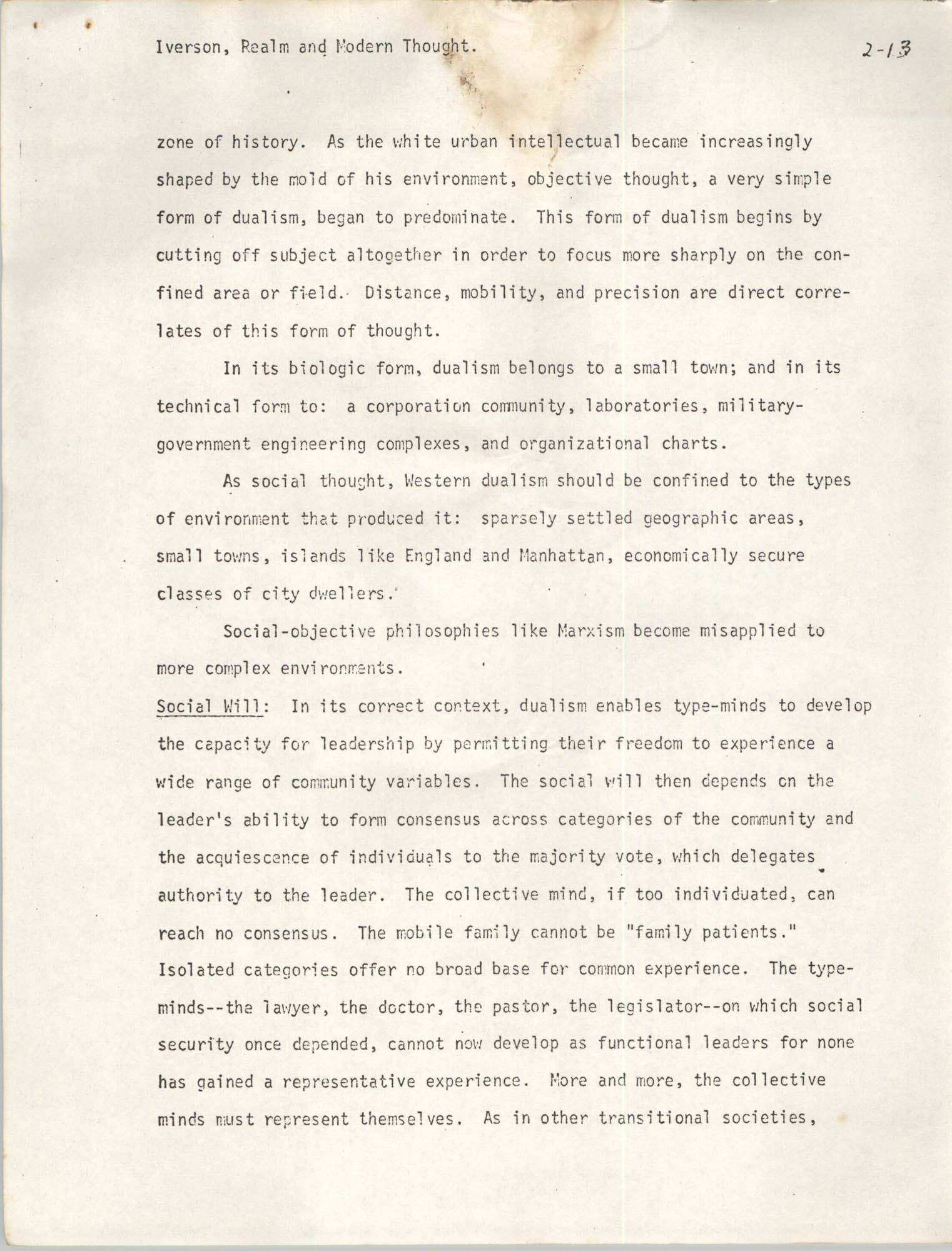 Realm and Modern Thought, Page 2-13