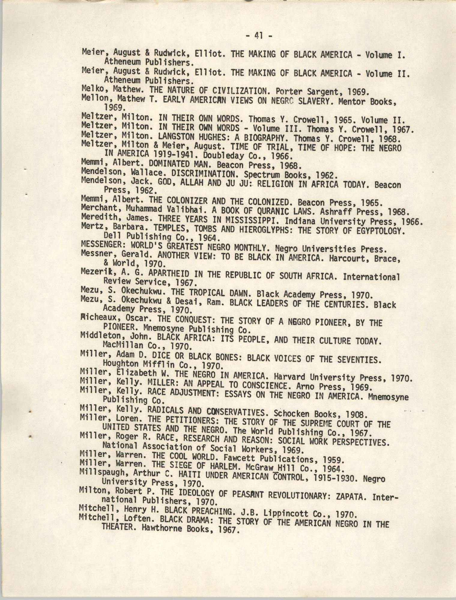 Howard University Department of Afro-American Studies Reading Materials, Page 41
