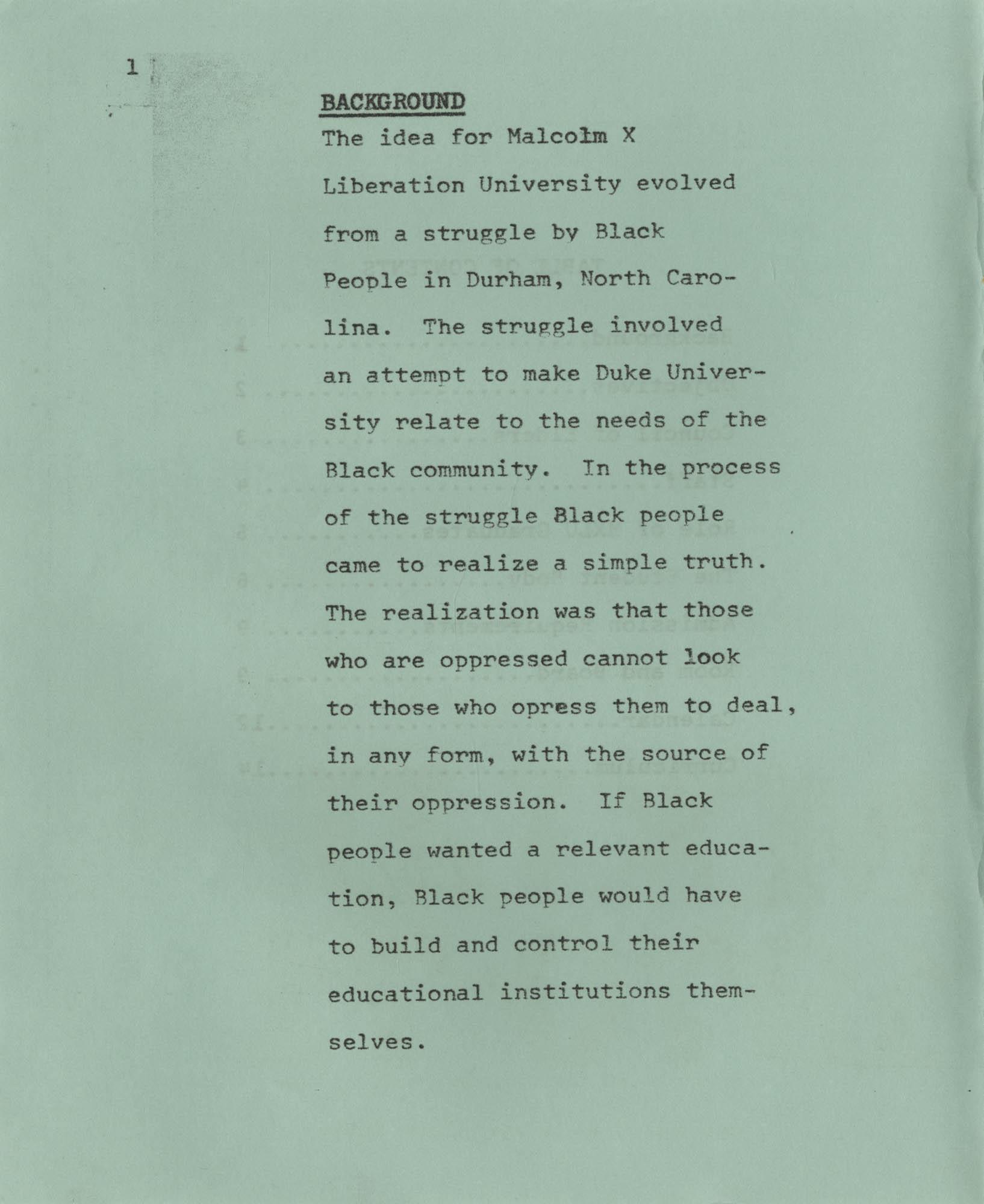 MXLU 1970-71 Bulletin, Page 1