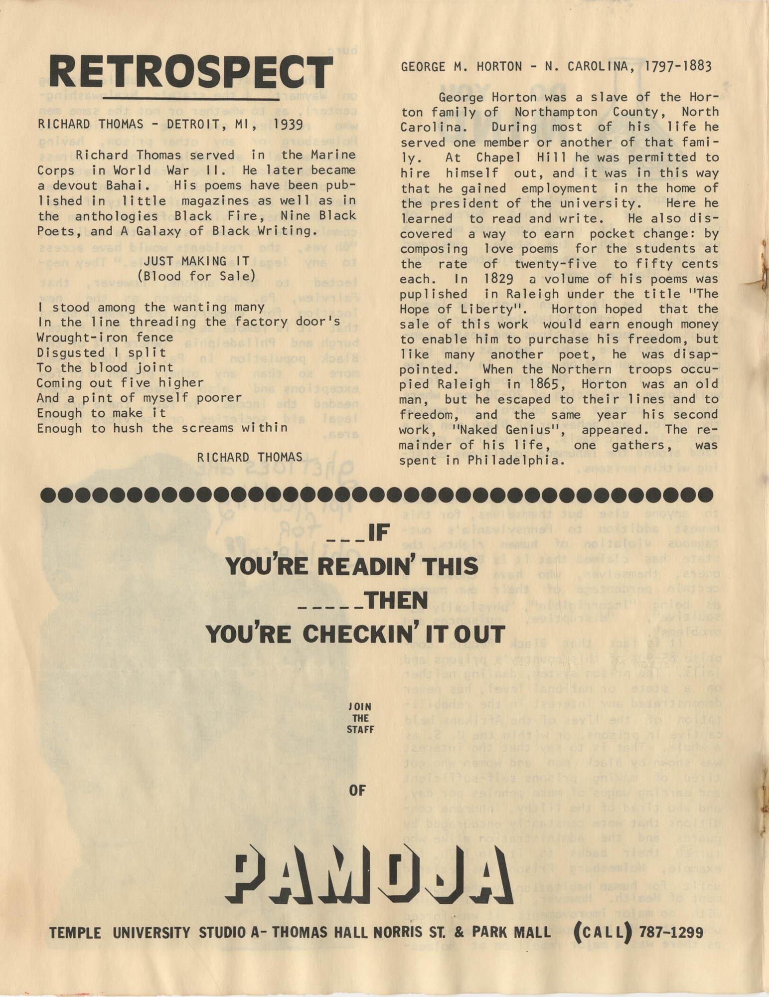 Pamoja, Vol. 1, No. 1, Page 4