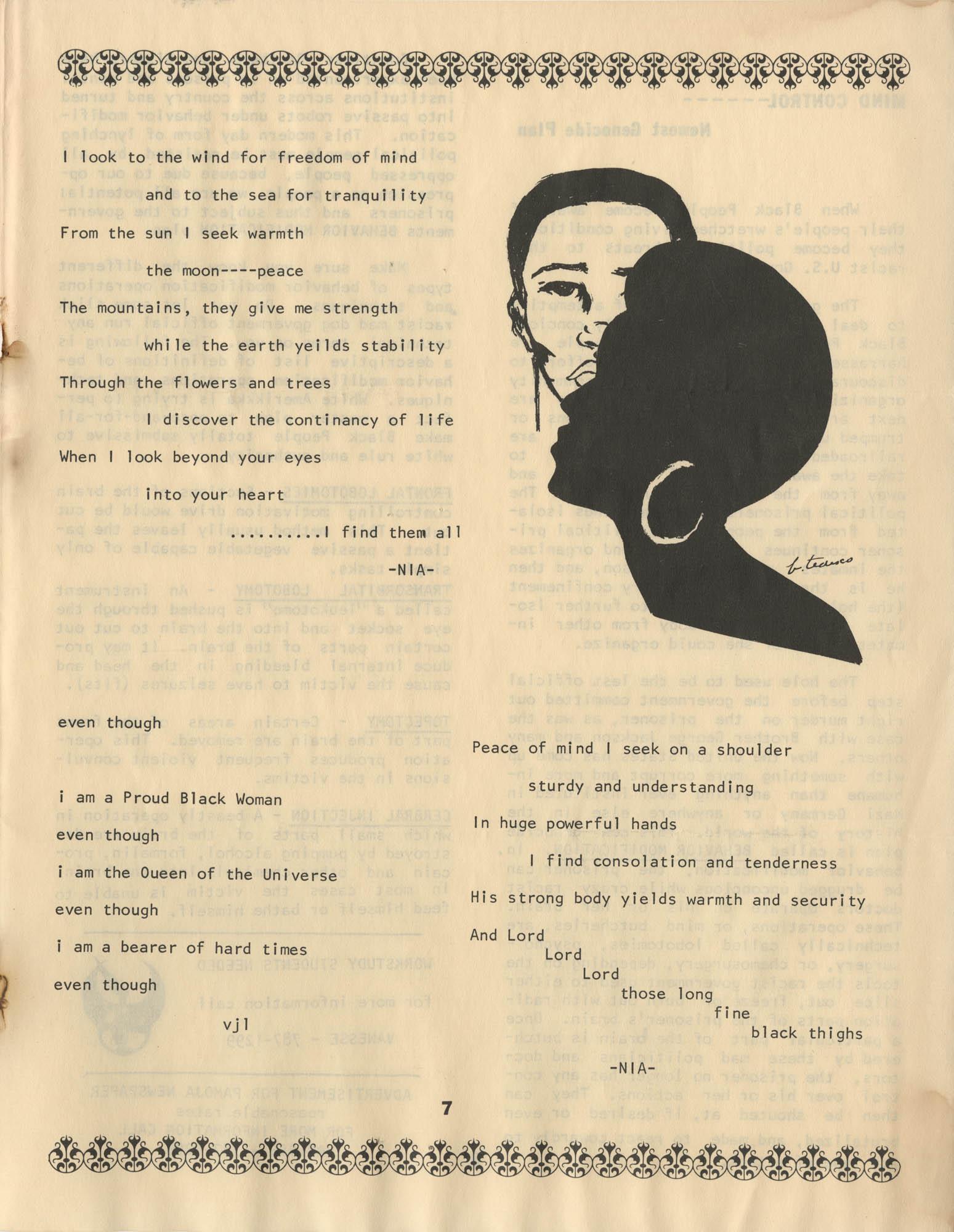 Pamoja, Vol. 1, No. 1, Page 7