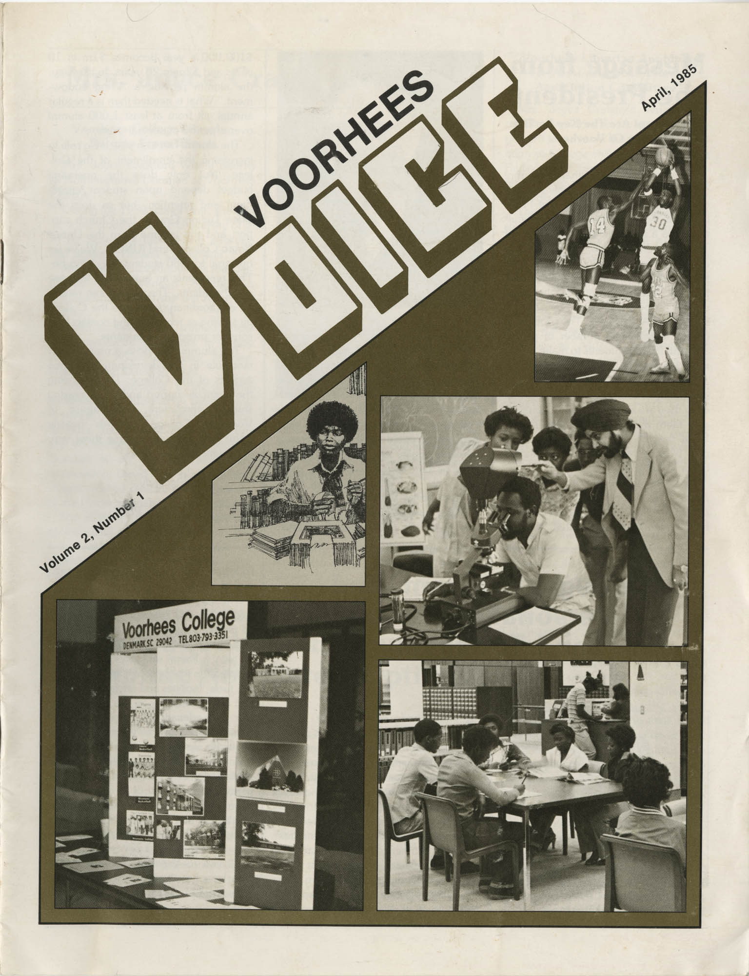 Voorhees Voice, Volume 2, Number 1, April 1985, Front Cover Exterior
