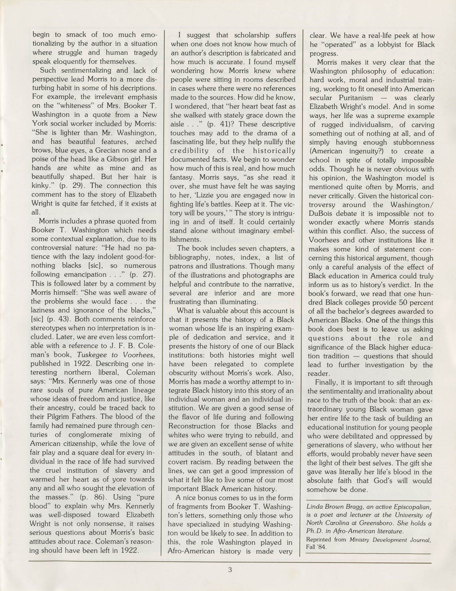Voorhees Voice, Volume 2, Number 1, April 1985, Page 3