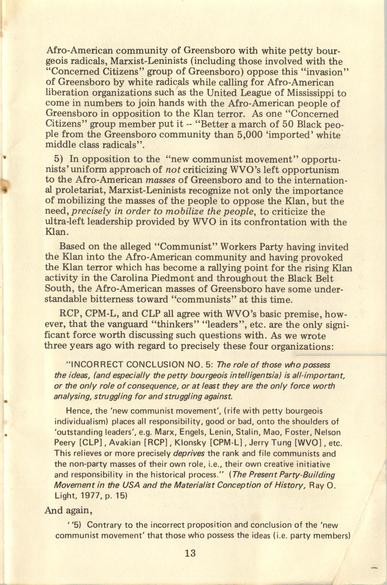 Ray O. Light Newsletter, Volume 1, Number 4, Page 13