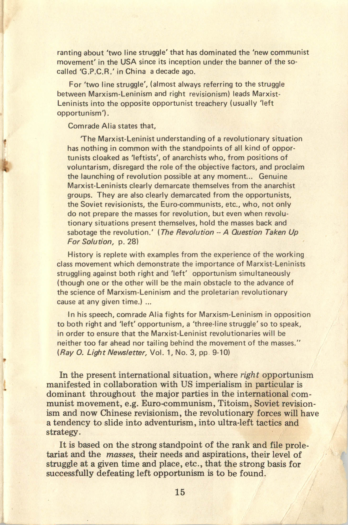 Ray O. Light Newsletter, Volume 1, Number 4, Page 15