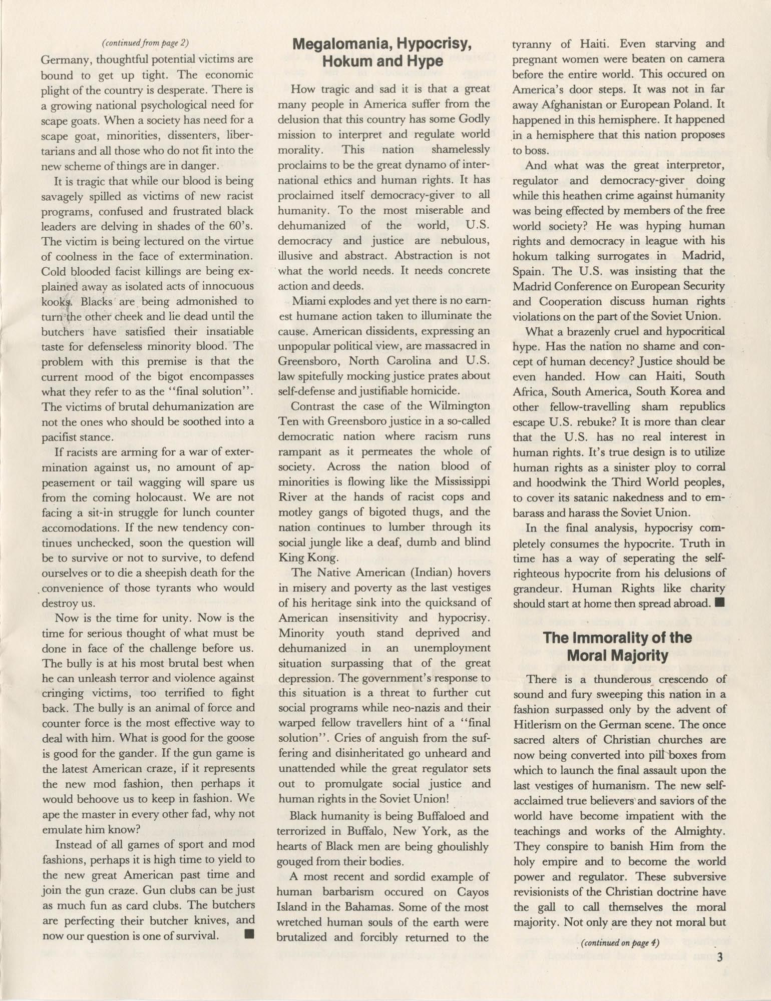 The Crusader, Vol. XII, No. 1, Page 3