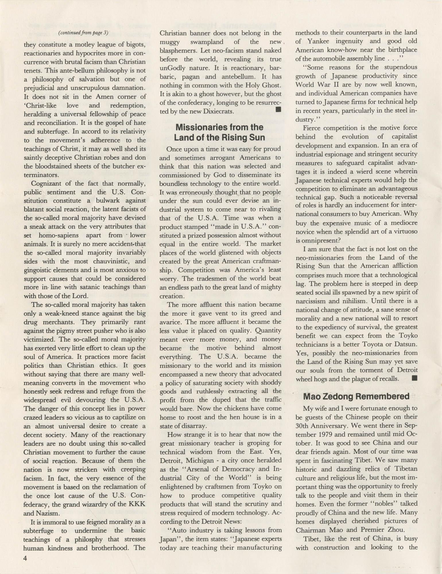 The Crusader, Vol. XII, No. 1, Page 4