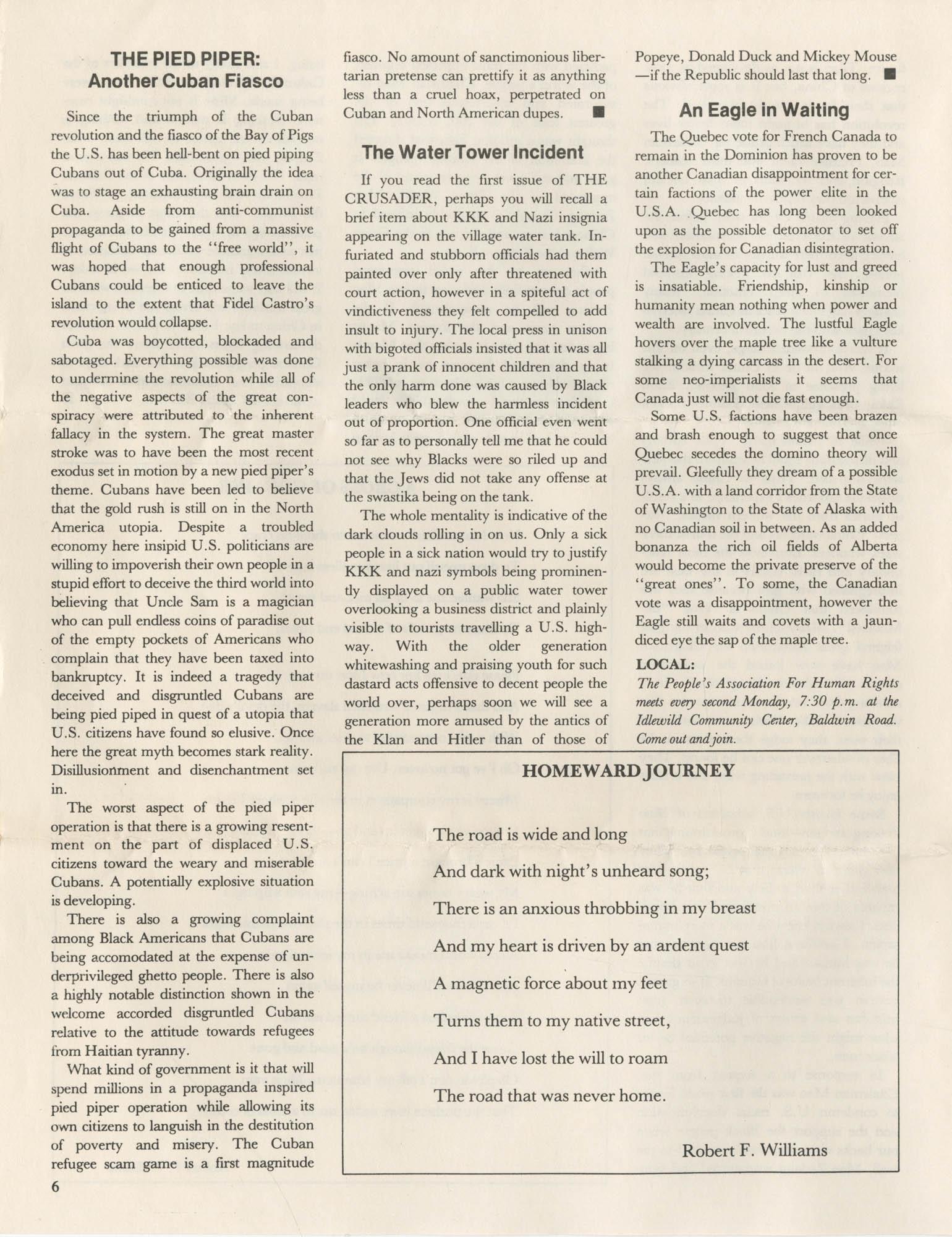 The Crusader, Vol. XII, No. 1, Page 6