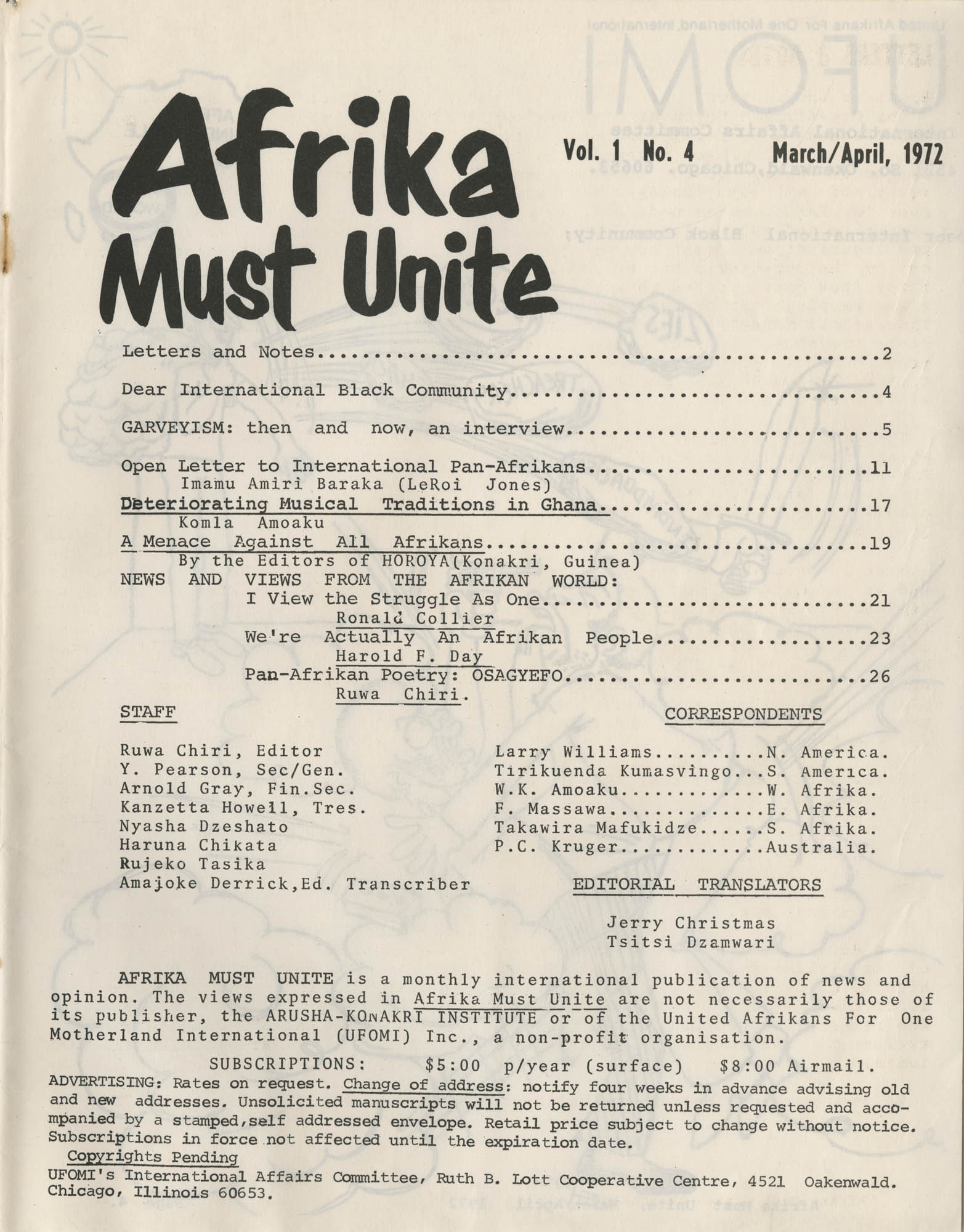 Afrika Must Unite, Vol. 1, No. 4, Page 3
