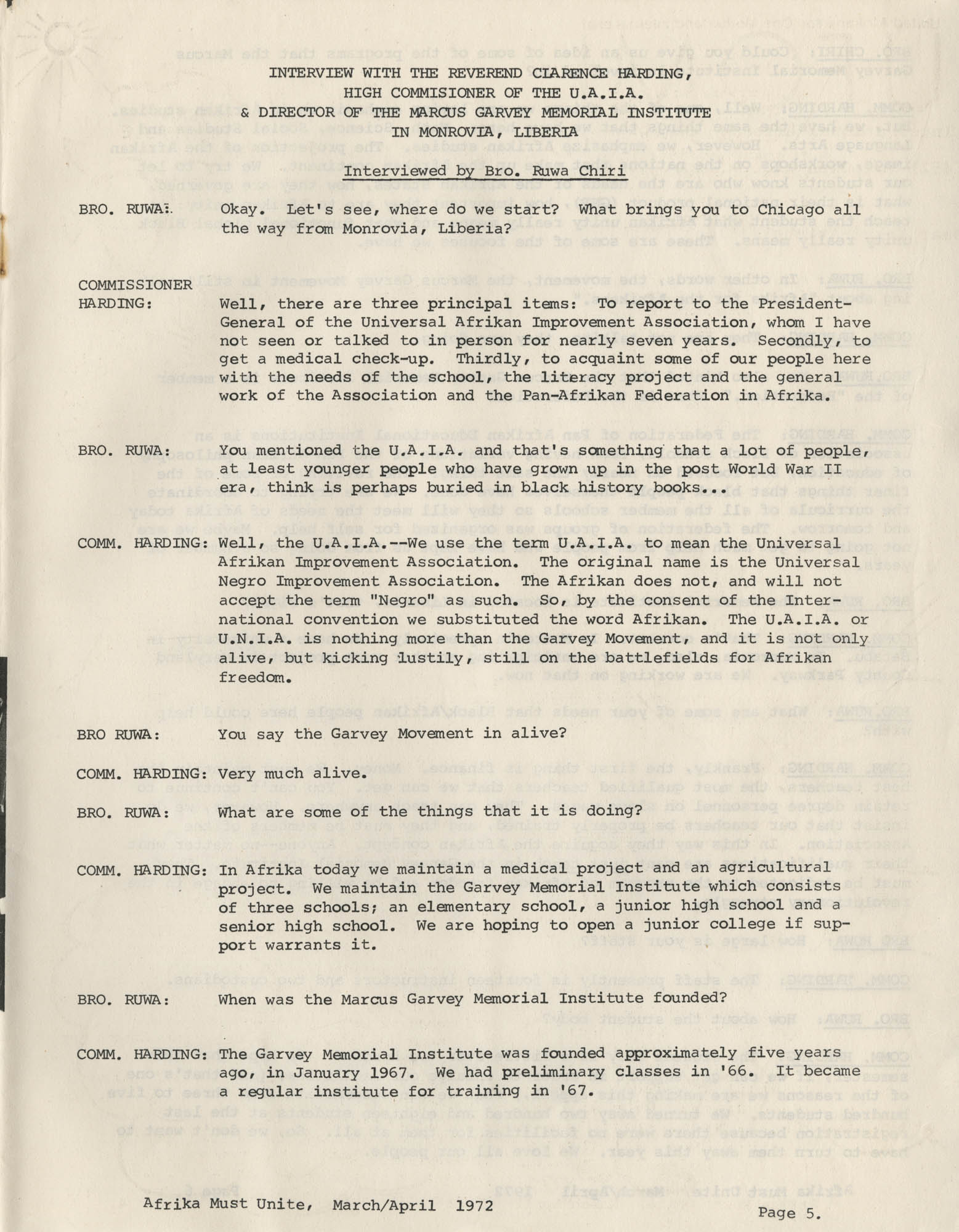 Afrika Must Unite, Vol. 1, No. 4, Page 5
