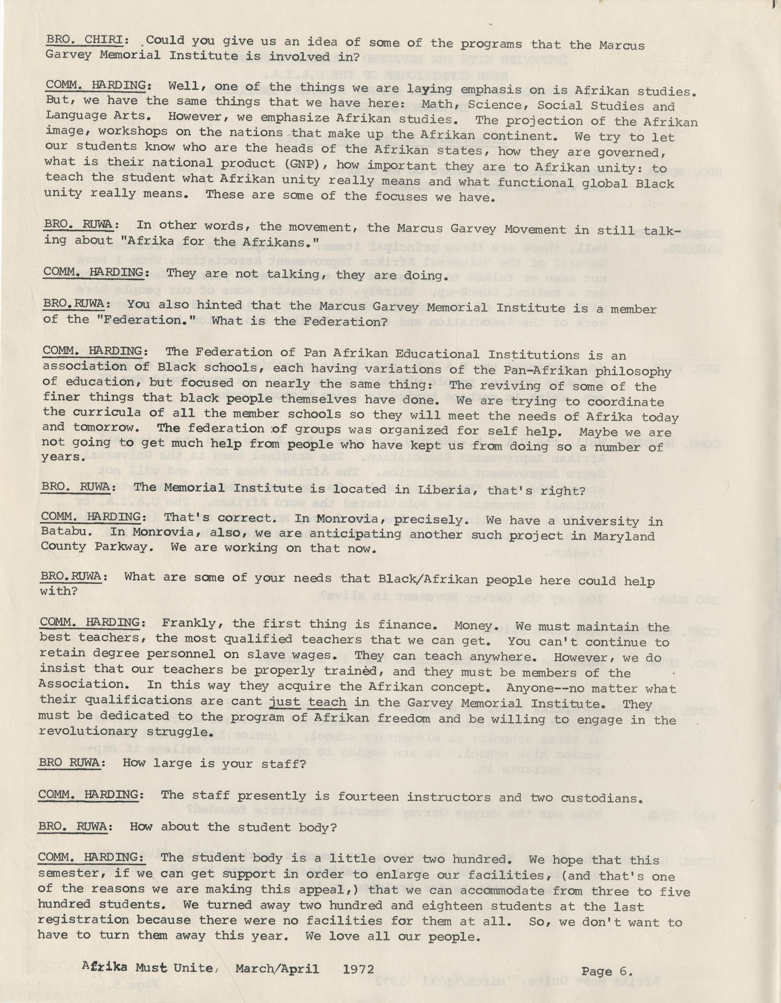 Afrika Must Unite, Vol. 1, No. 4, Page 6