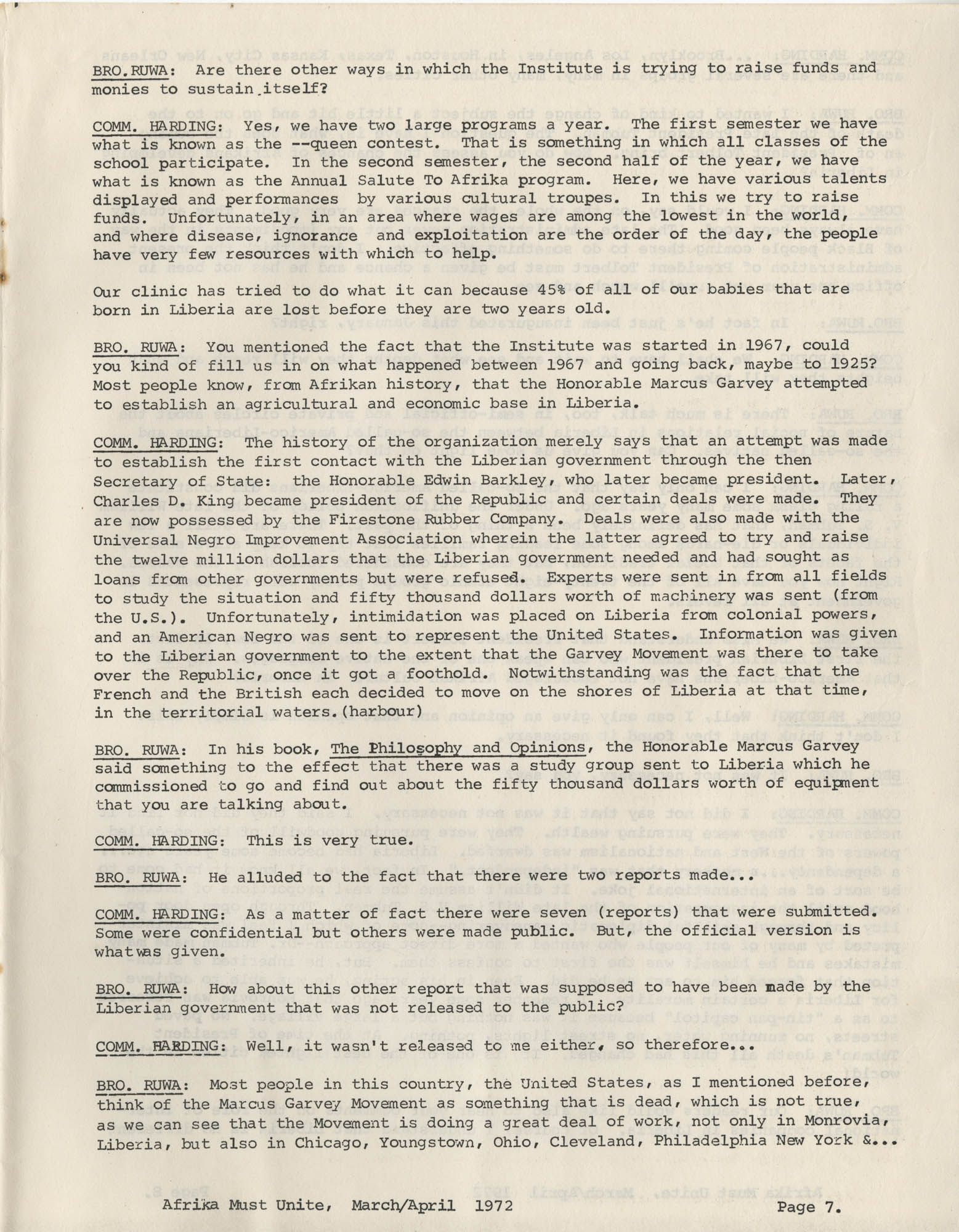 Afrika Must Unite, Vol. 1, No. 4, Page 7