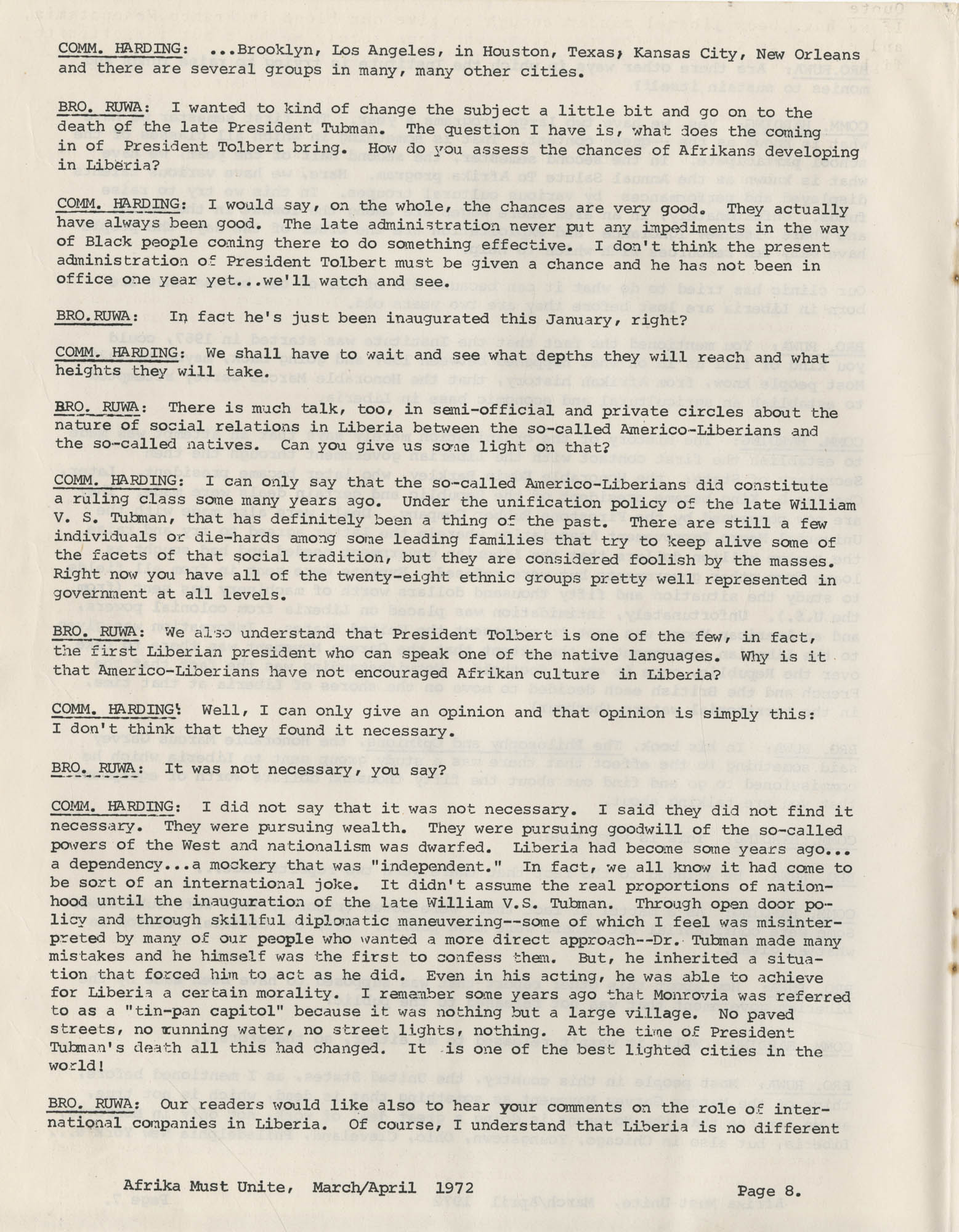 Afrika Must Unite, Vol. 1, No. 4, Page 8