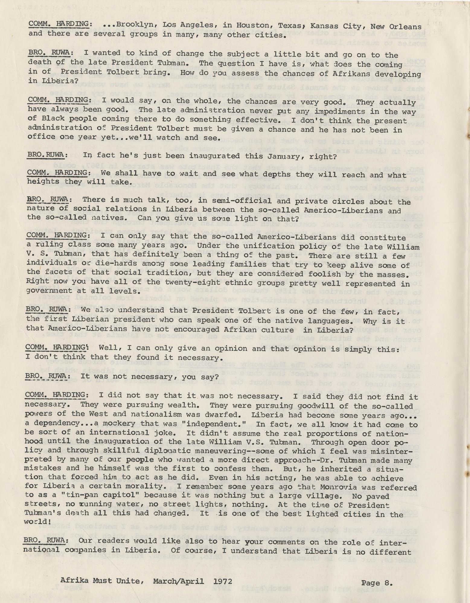 Afrika Must Unite, Vol. 1, No. 4, Page 8