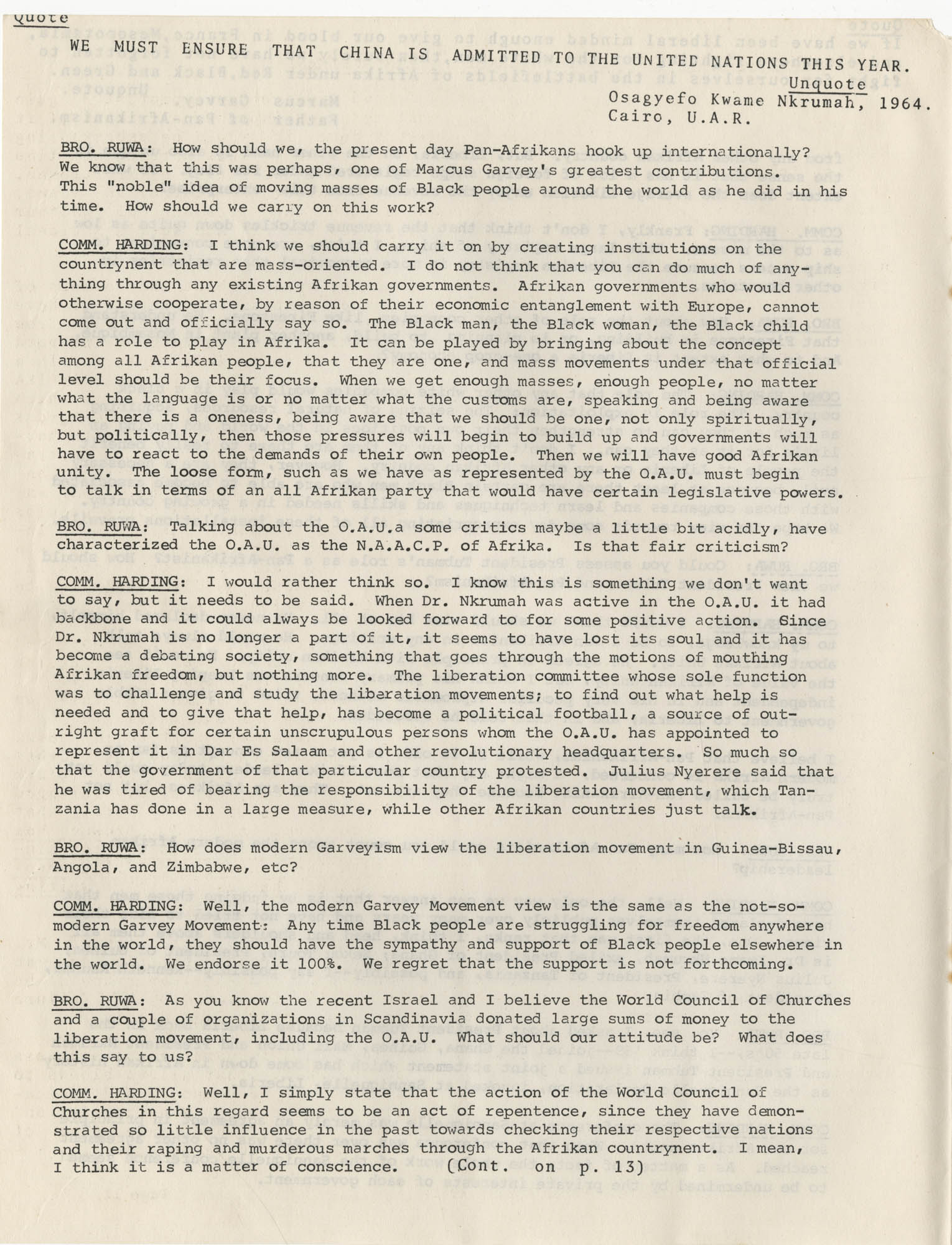 Afrika Must Unite, Vol. 1, No. 4, Page 10