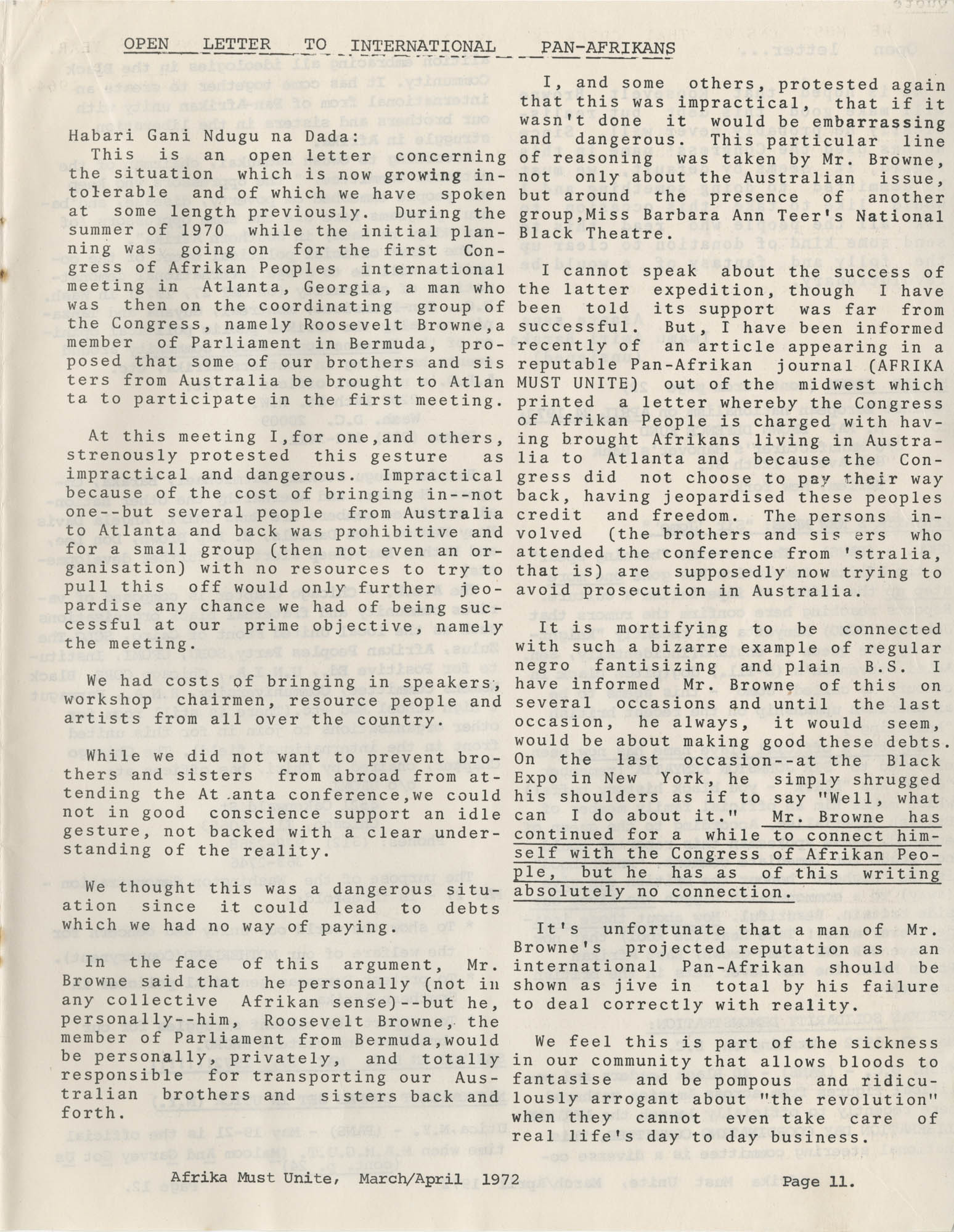 Afrika Must Unite, Vol. 1, No. 4, Page 11