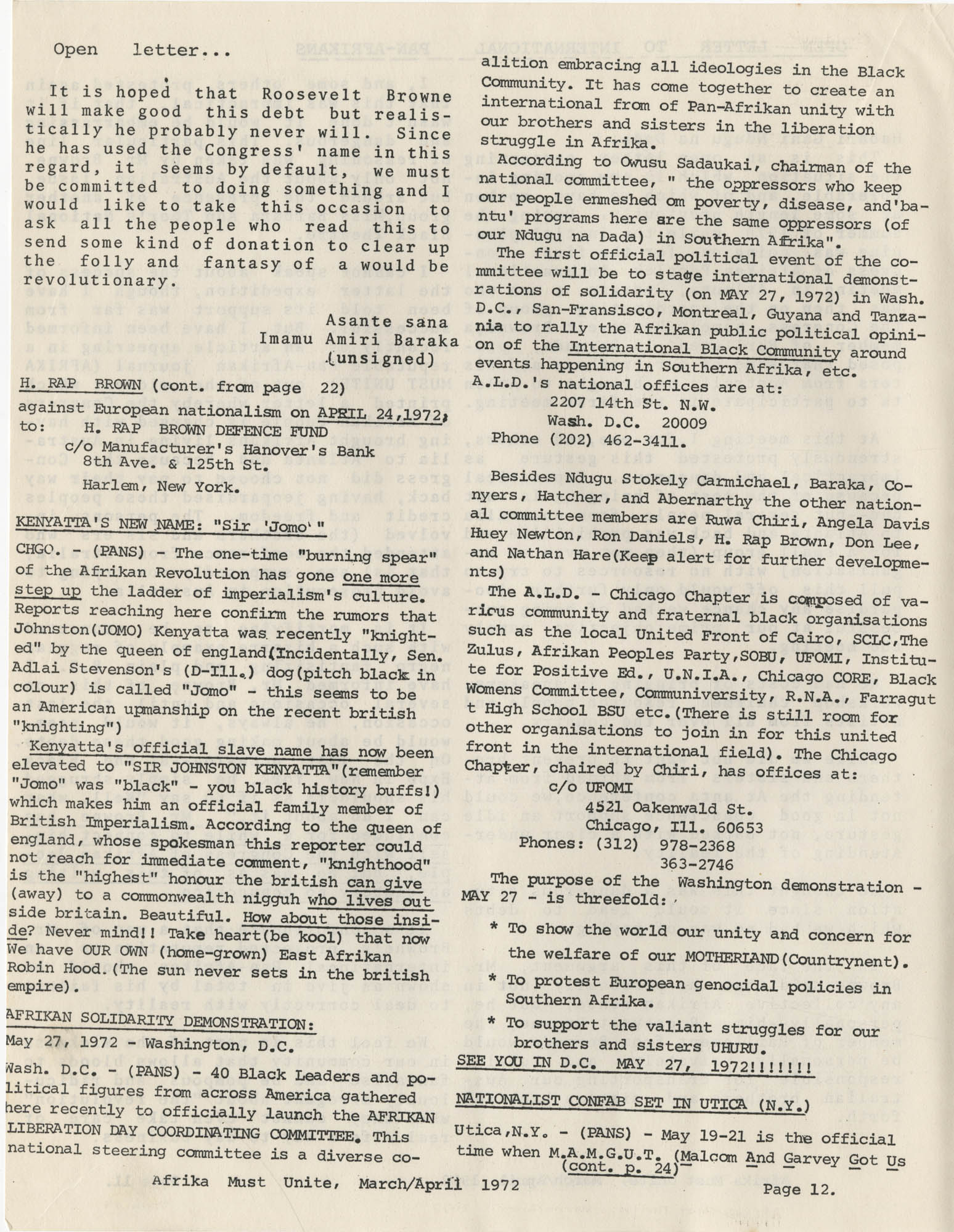 Afrika Must Unite, Vol. 1, No. 4, Page 12