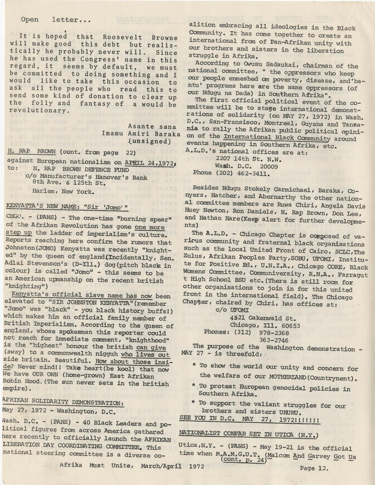 Afrika Must Unite, Vol. 1, No. 4, Page 12