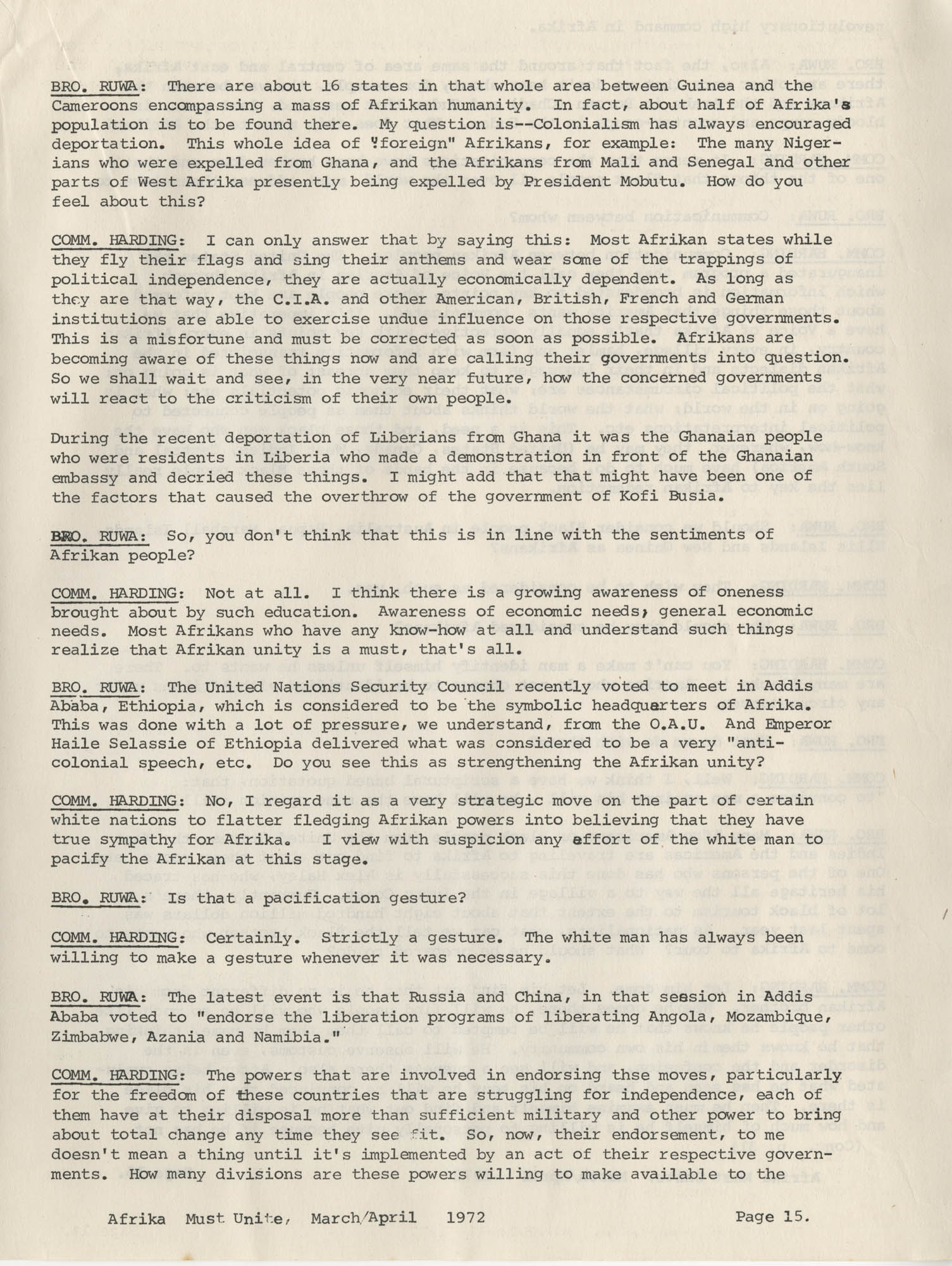 Afrika Must Unite, Vol. 1, No. 4, Page 15