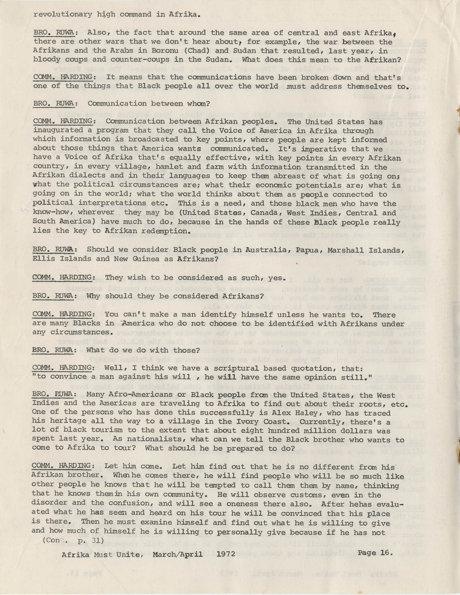 Afrika Must Unite, Vol. 1, No. 4, Page 16
