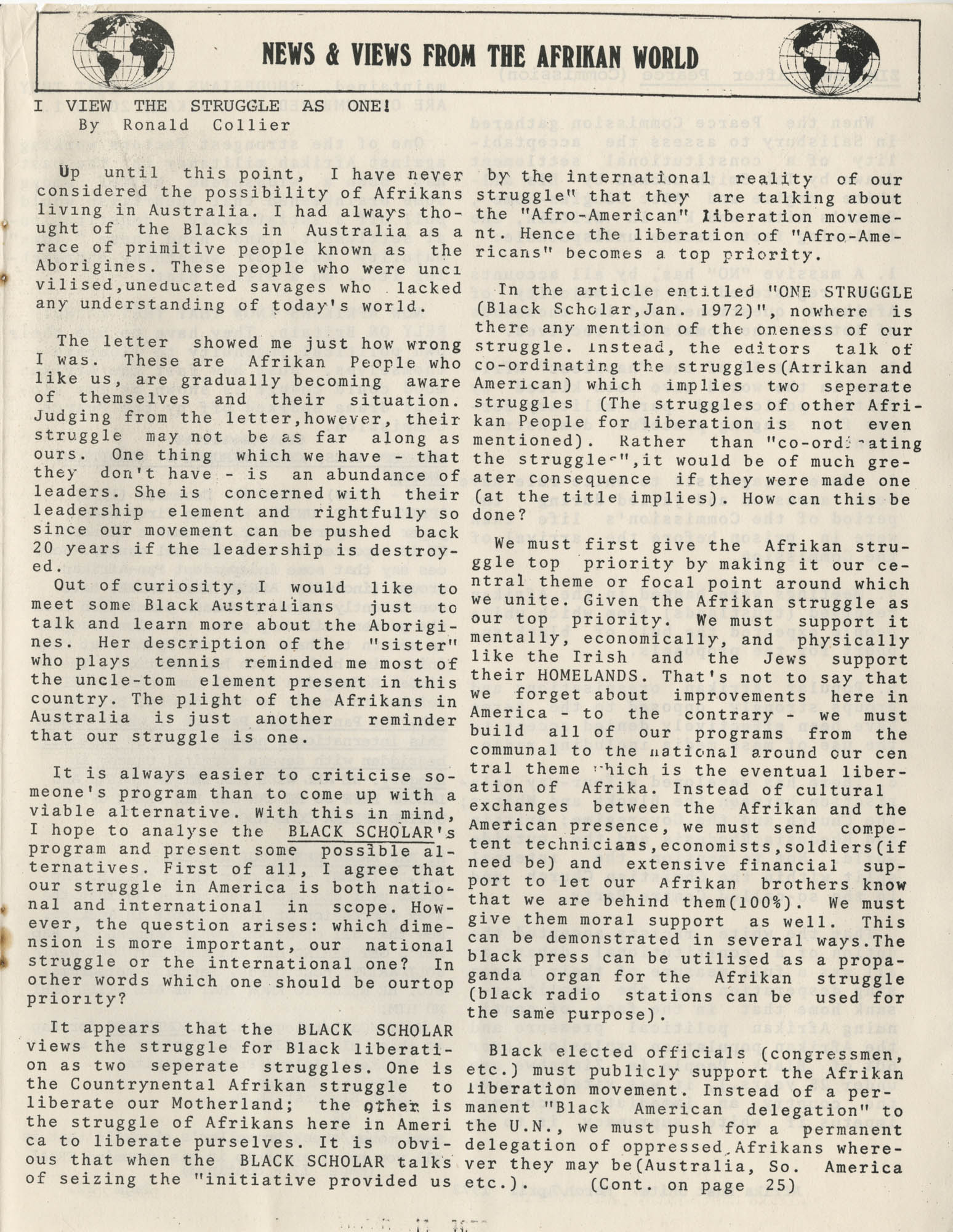 Afrika Must Unite, Vol. 1, No. 4, Page 21