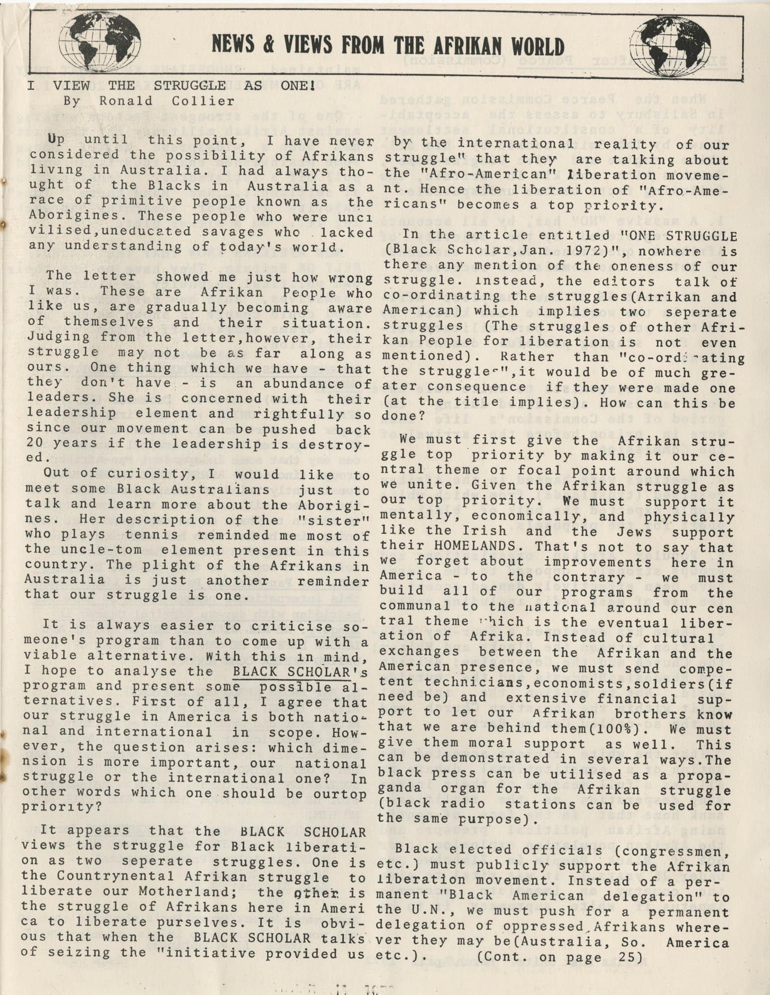 Afrika Must Unite, Vol. 1, No. 4, Page 21
