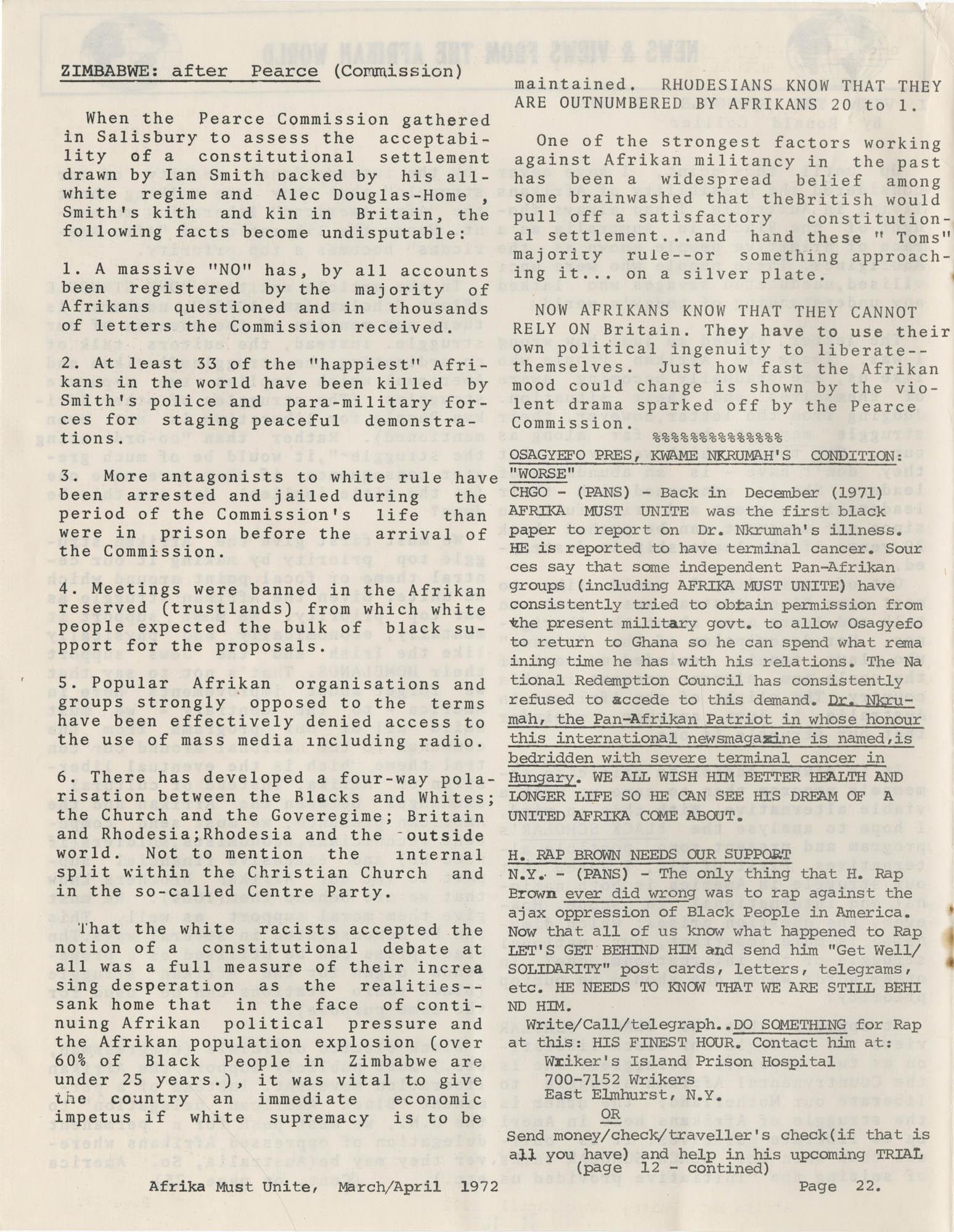 Afrika Must Unite, Vol. 1, No. 4, Page 22