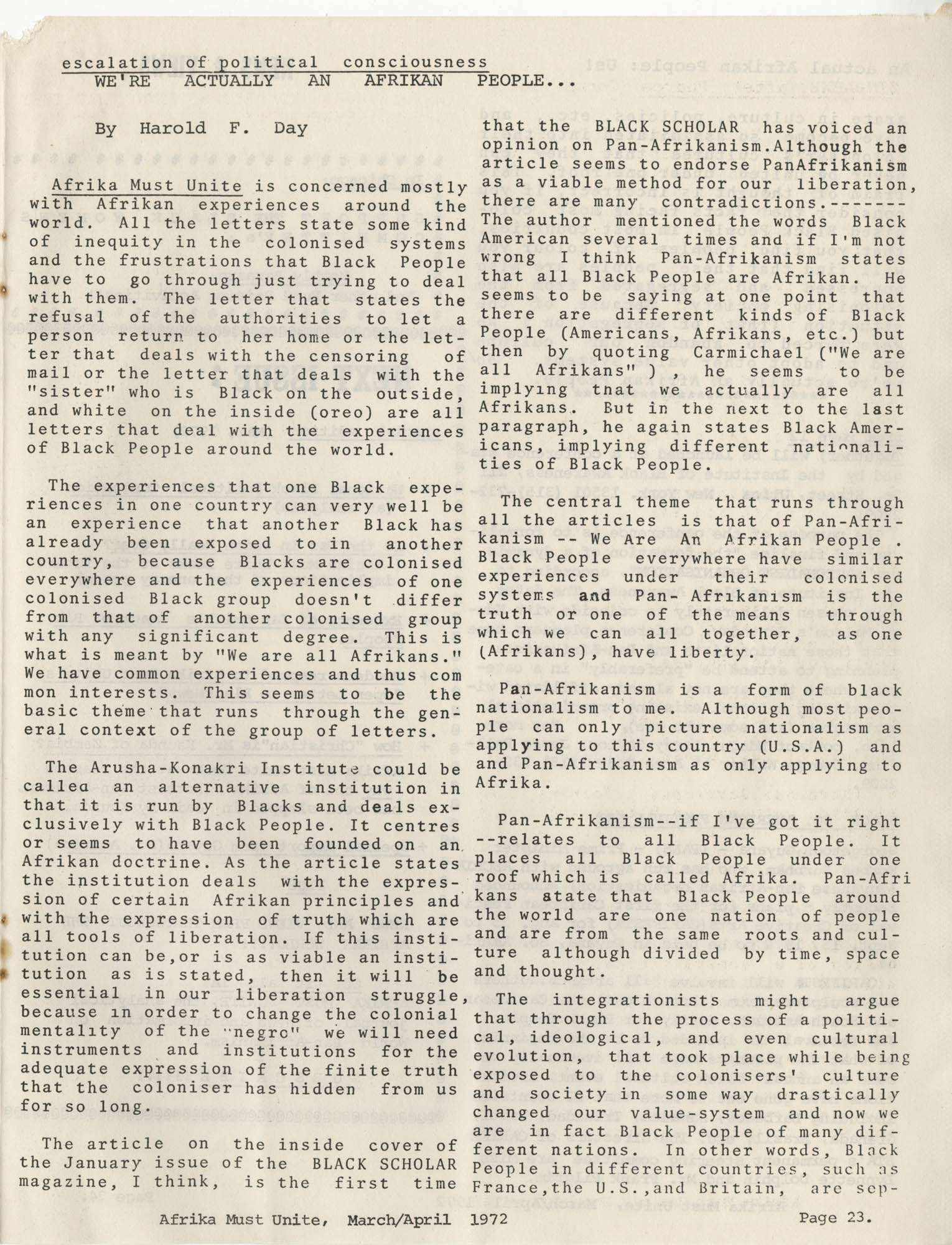 Afrika Must Unite, Vol. 1, No. 4, Page 23