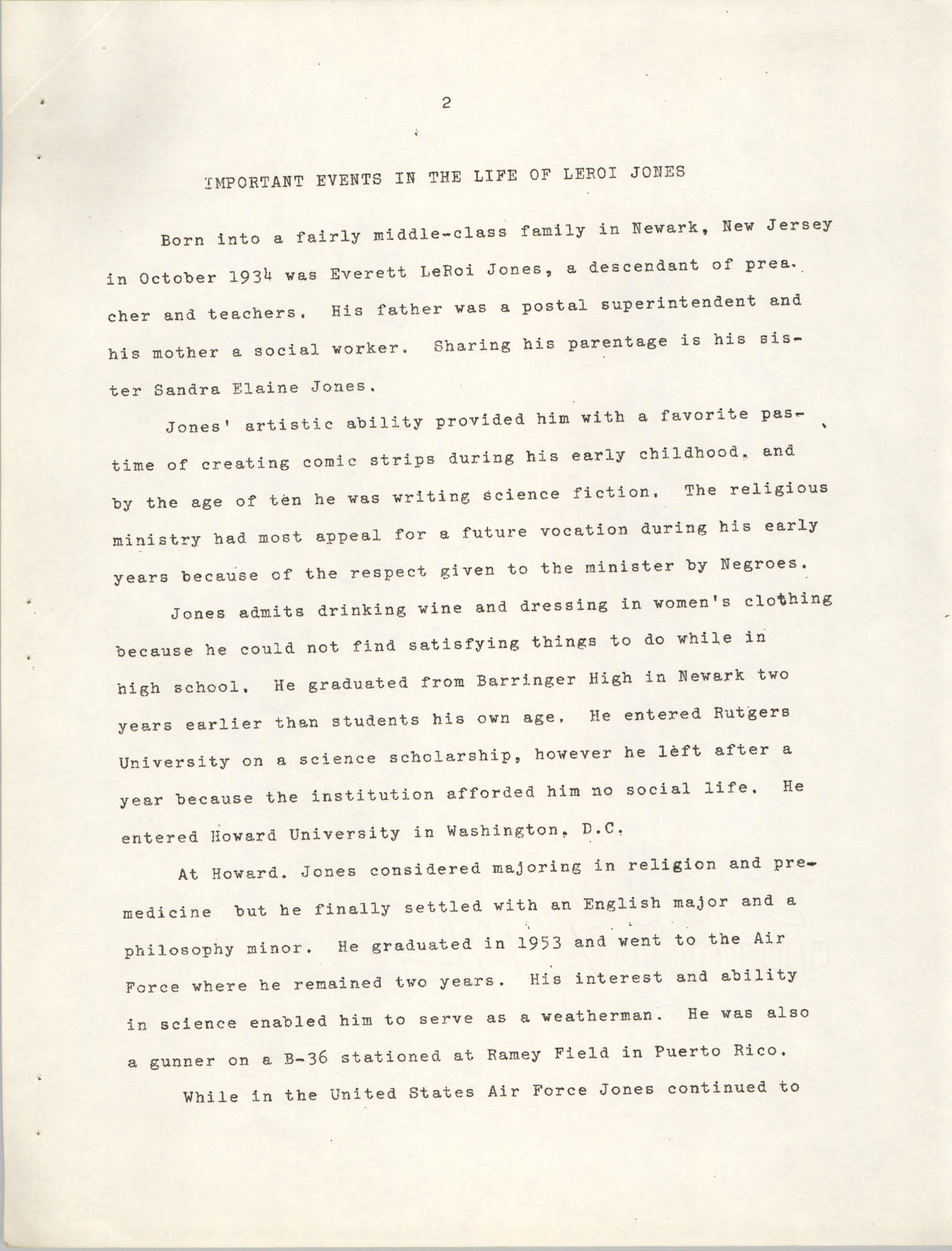 Center for African and African-American Studies Bibliography No. 2, Page 2