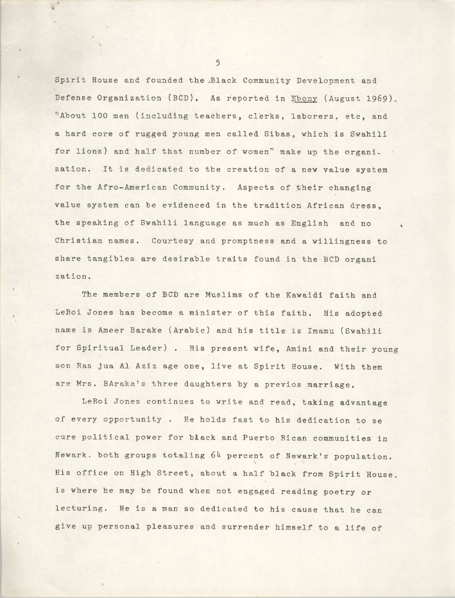 Center for African and African-American Studies Bibliography No. 2, Page 5