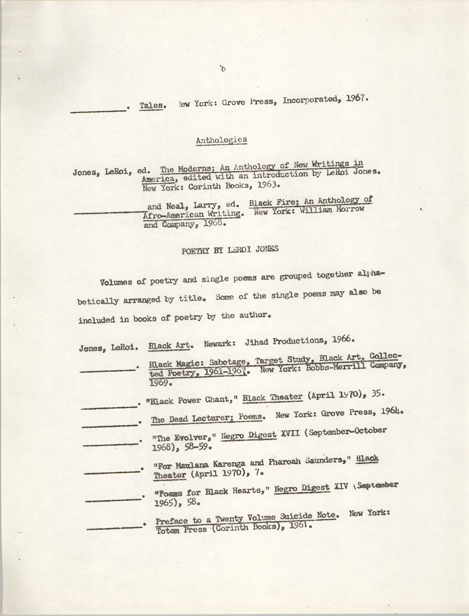 Center for African and African-American Studies Bibliography No. 2, Page 8