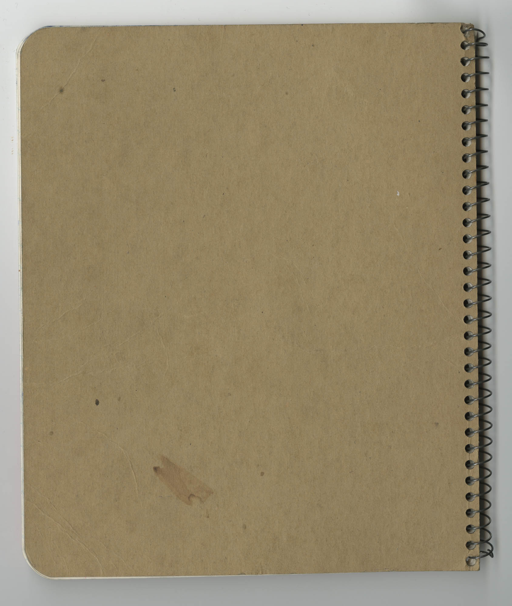 Bernice Robinson Composition Book, Back Cover