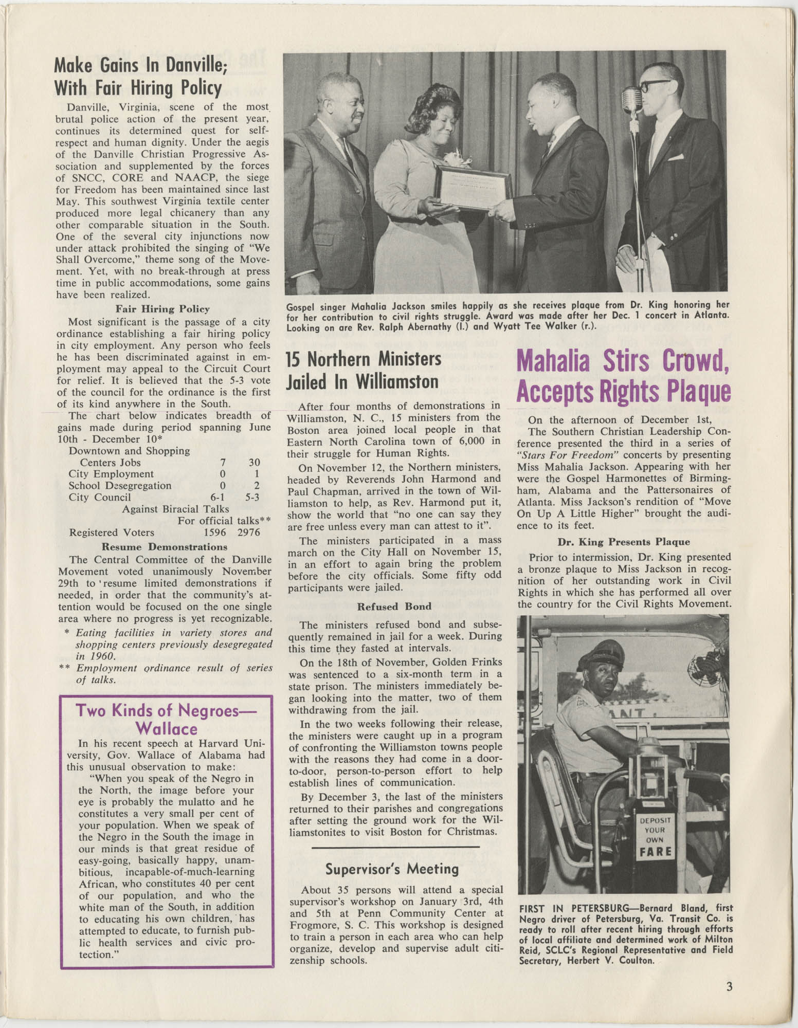 Southern Christian Leadership Conference Newsletter, Volume 2, Number 3, November-December, 1963, Page 3