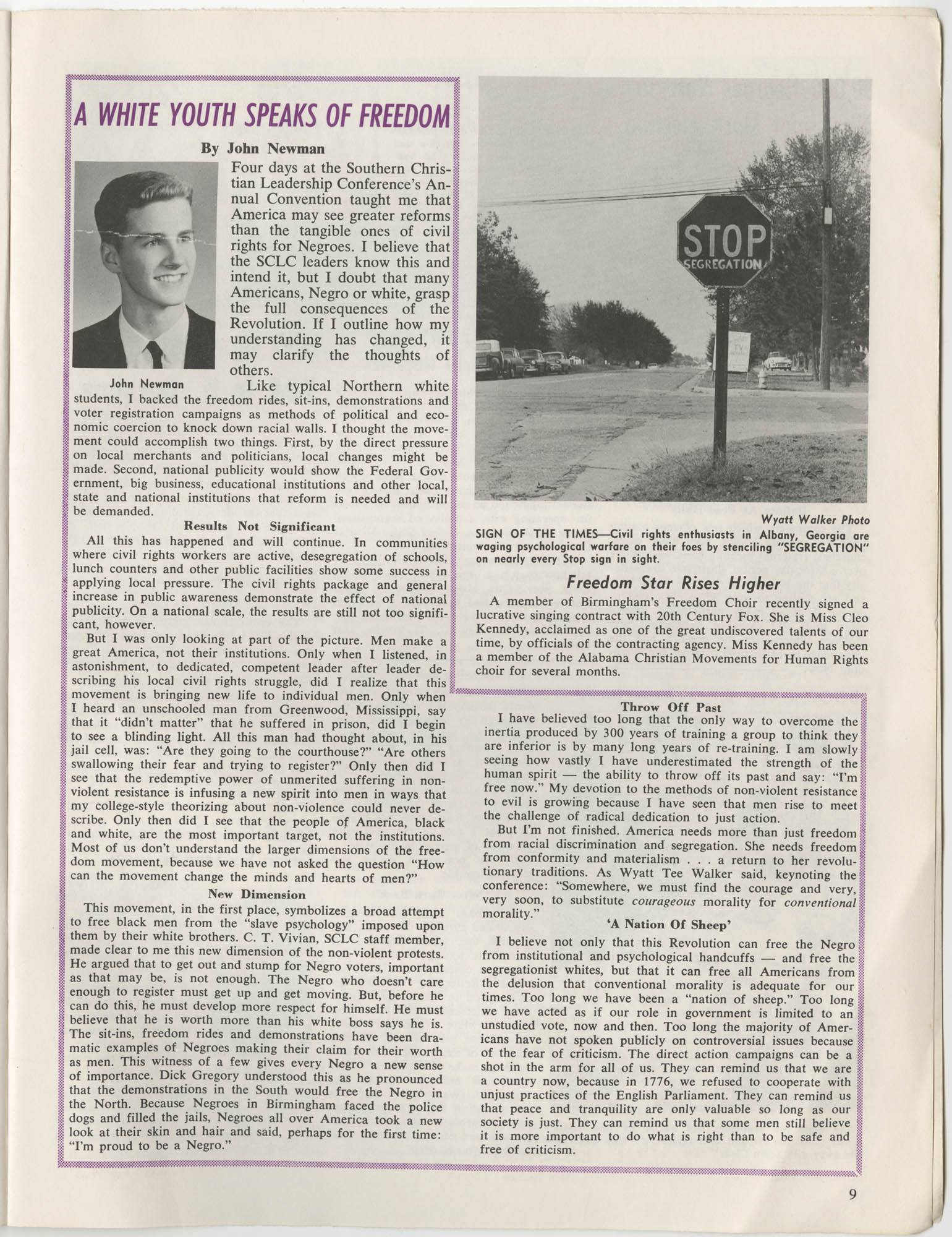 Southern Christian Leadership Conference Newsletter, Volume 2, Number 3, November-December, 1963, Page 9