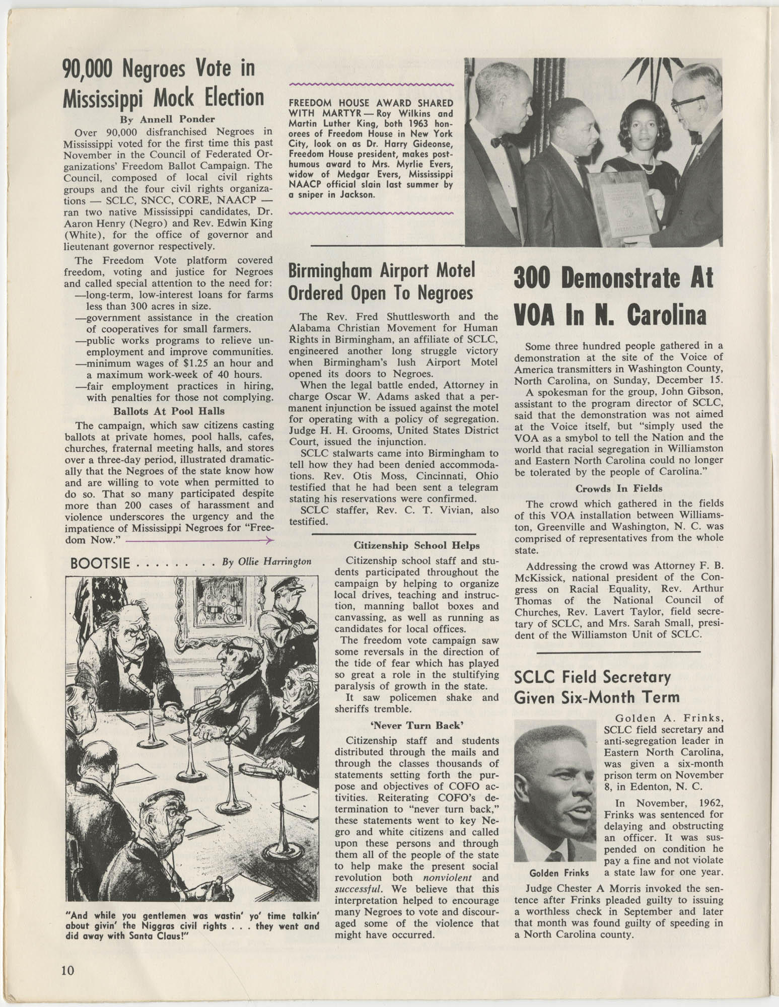 Southern Christian Leadership Conference Newsletter, Volume 2, Number 3, November-December, 1963, Page 10
