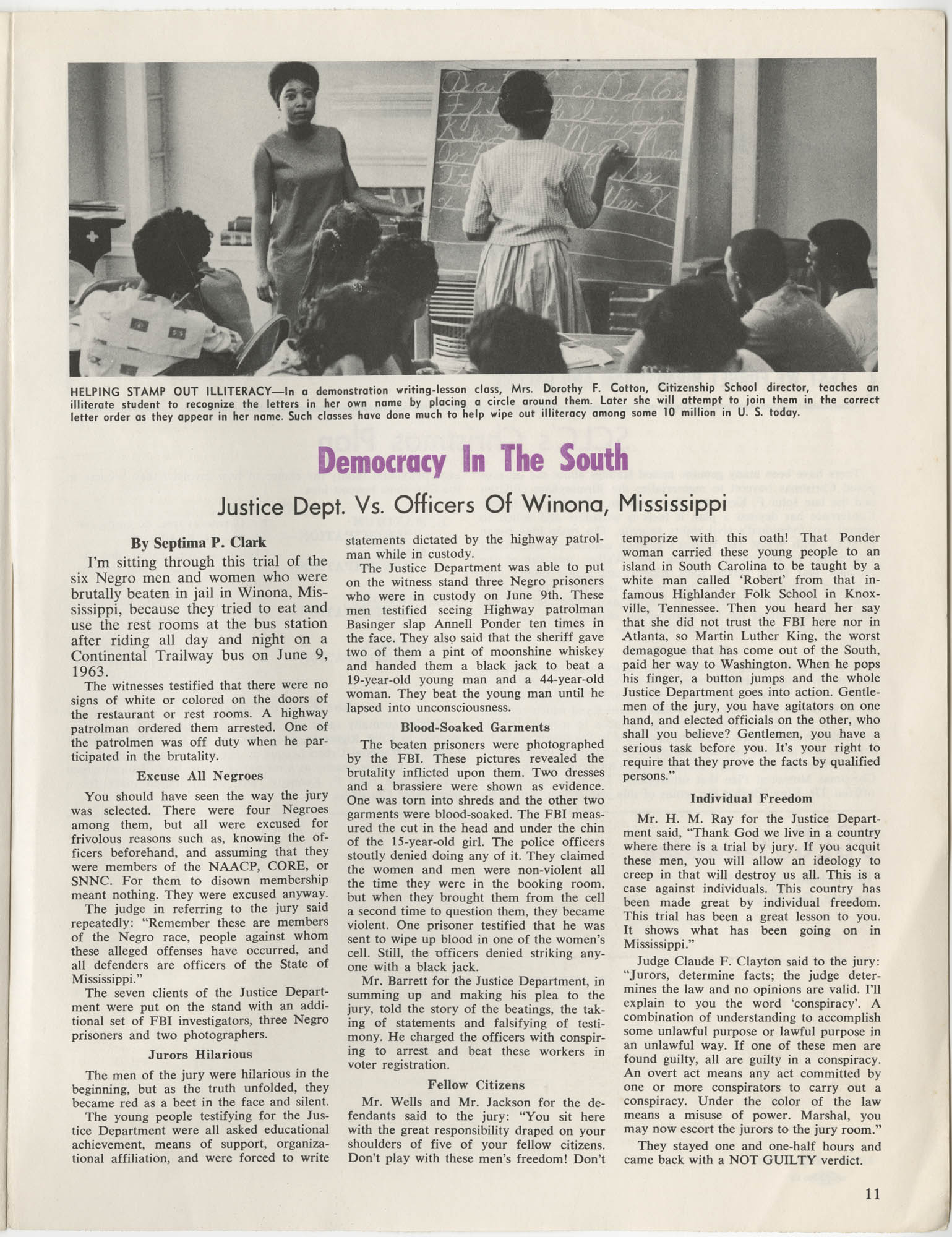 Southern Christian Leadership Conference Newsletter, Volume 2, Number 3, November-December, 1963, Page 11