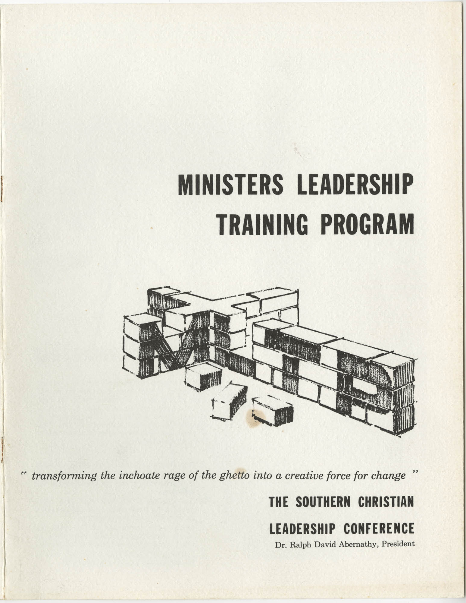 Ministers Leadership Training Program, Cover
