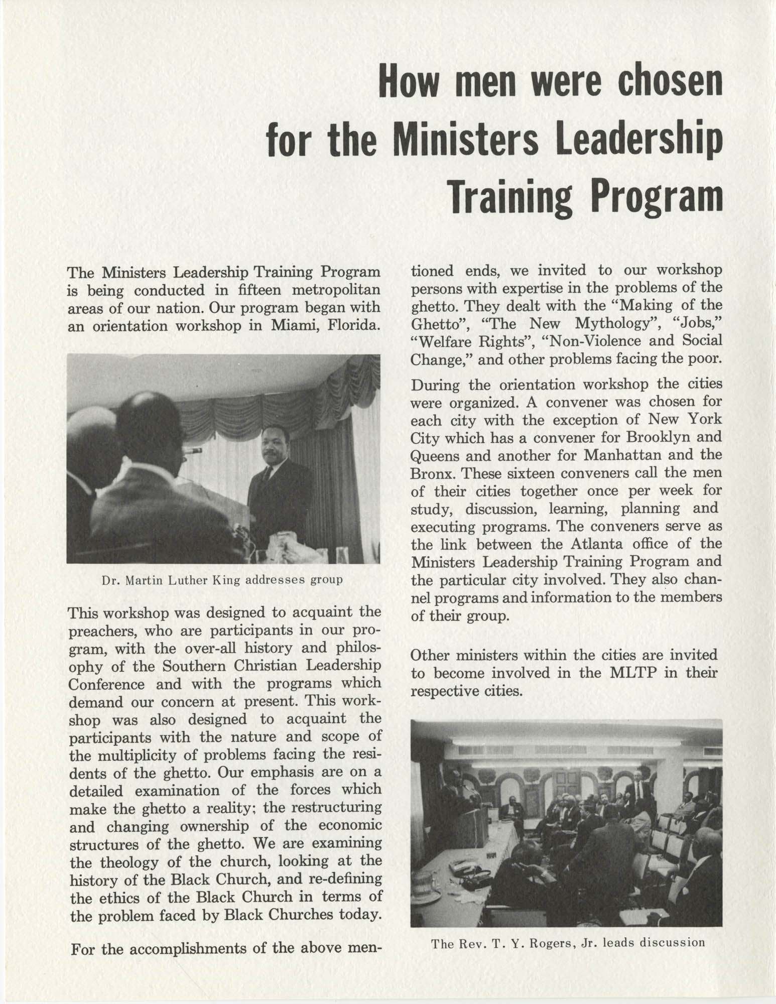 Ministers Leadership Training Program, Page 3