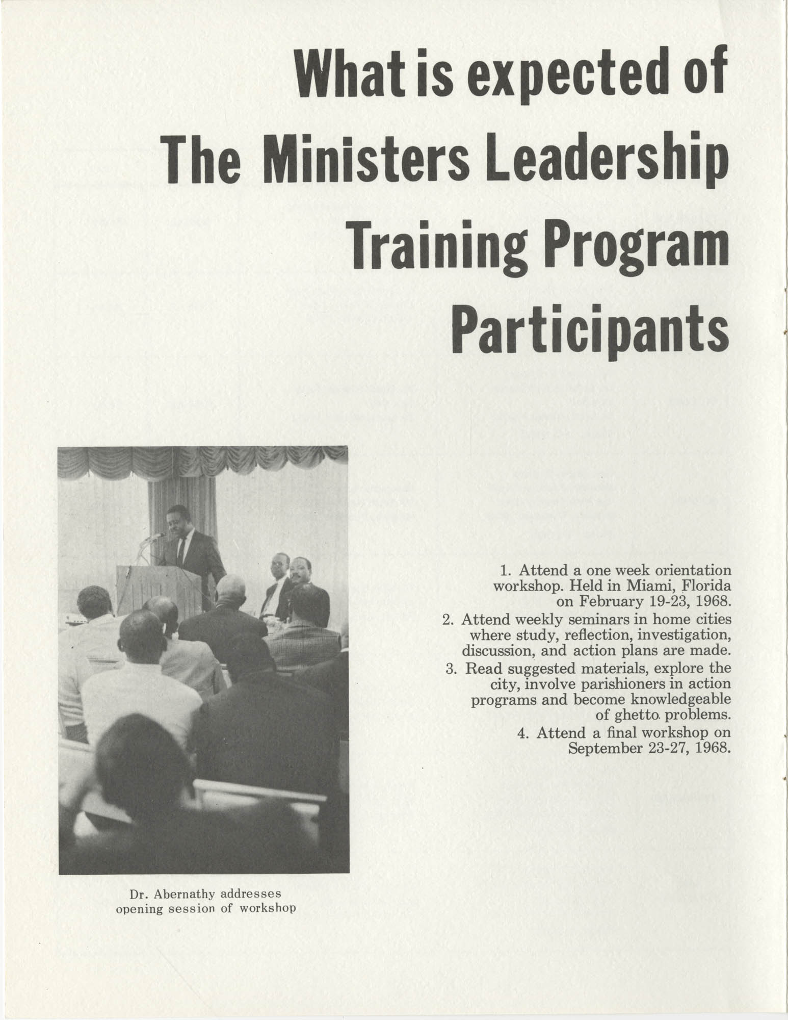 Ministers Leadership Training Program, Page 7