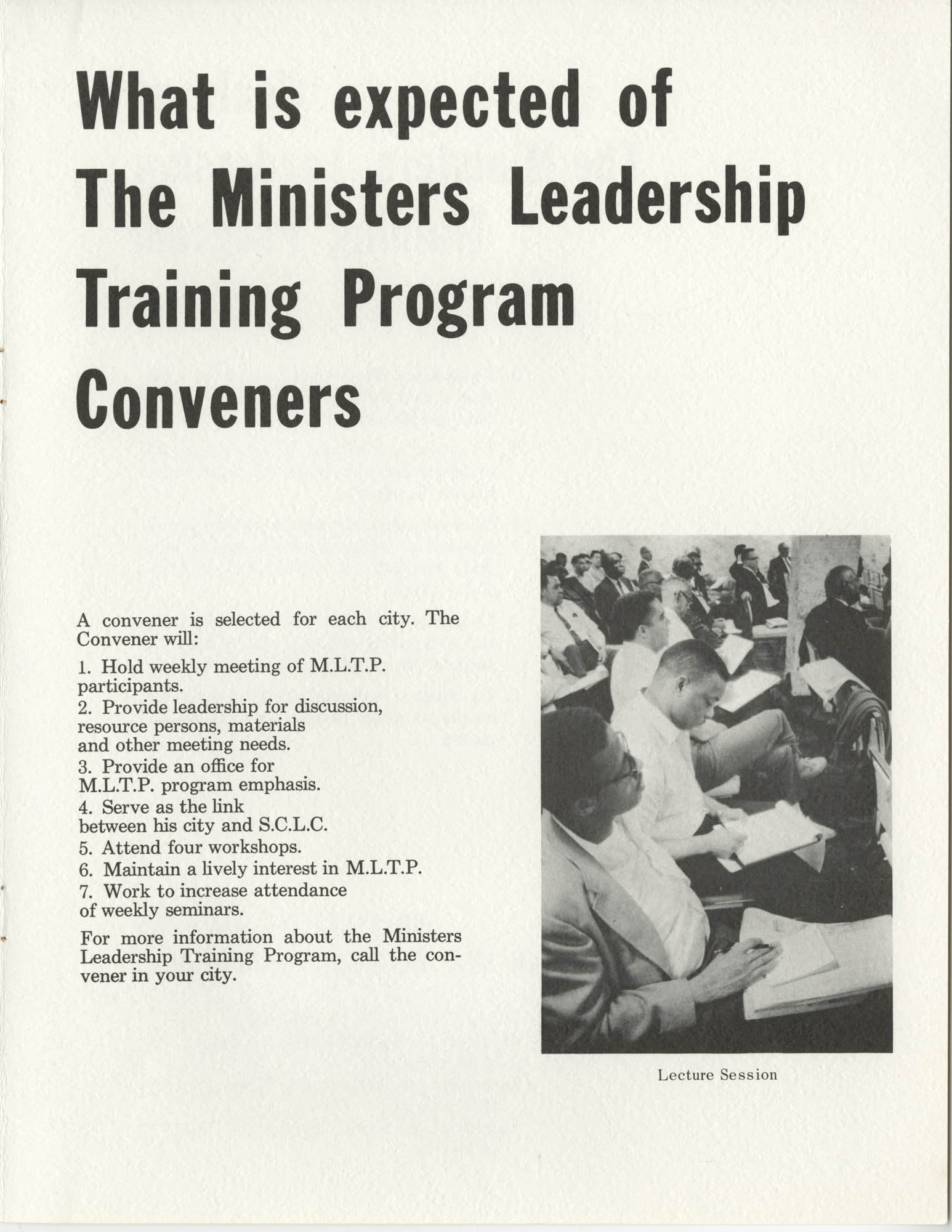 Ministers Leadership Training Program, Page 8