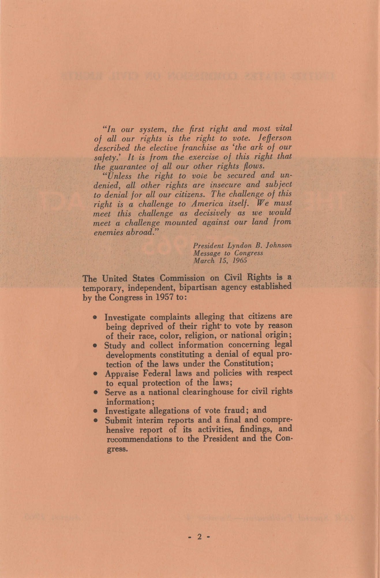 The Voting Rights Act of 1965, Page 2