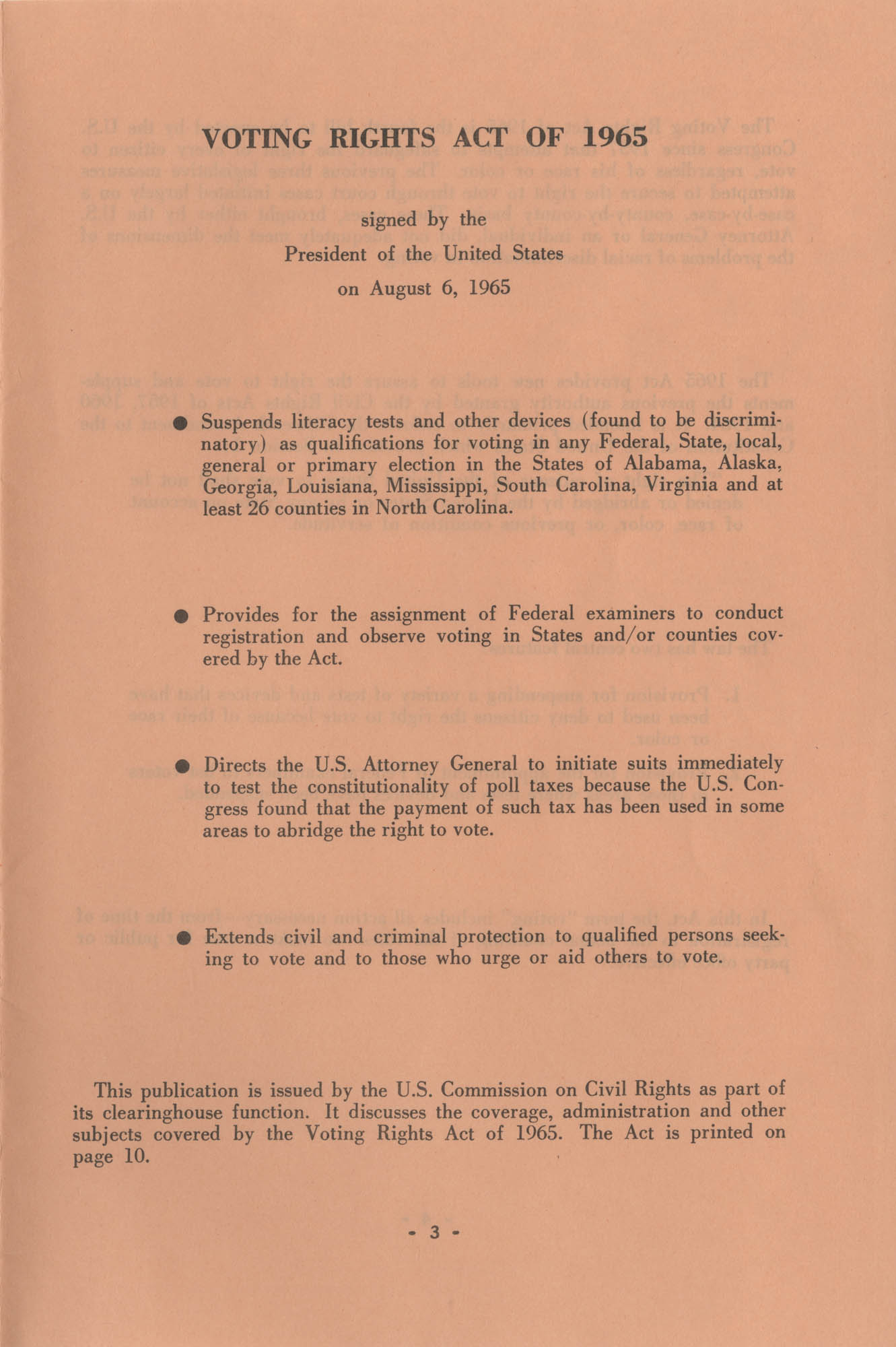 The Voting Rights Act of 1965, Page 3