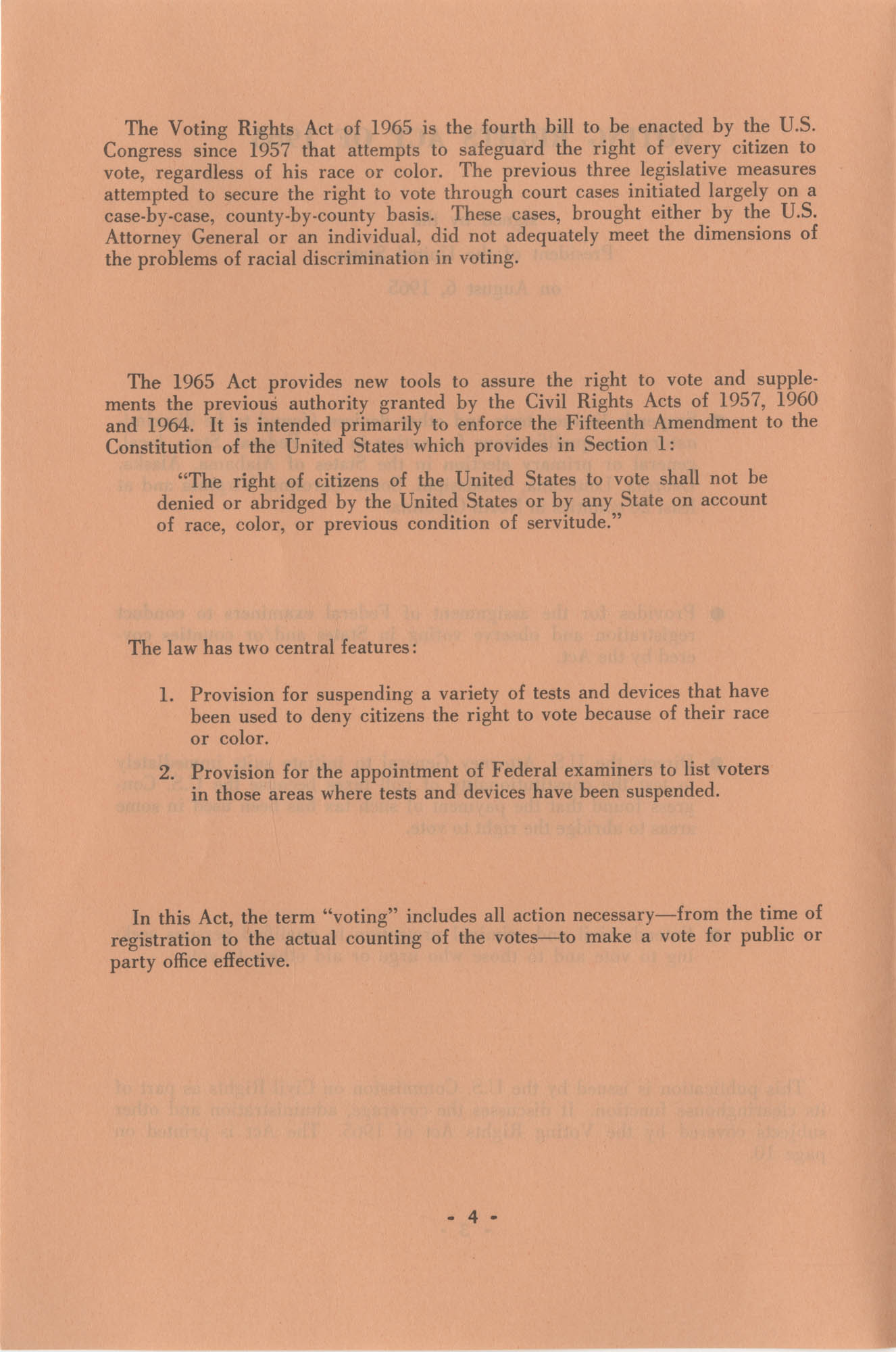 The Voting Rights Act of 1965, Page 4