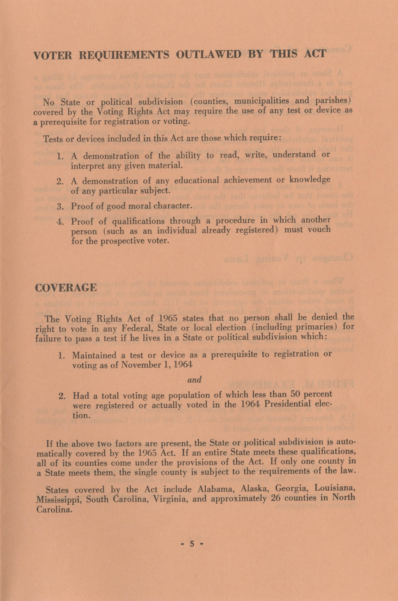 The Voting Rights Act of 1965, Page 5