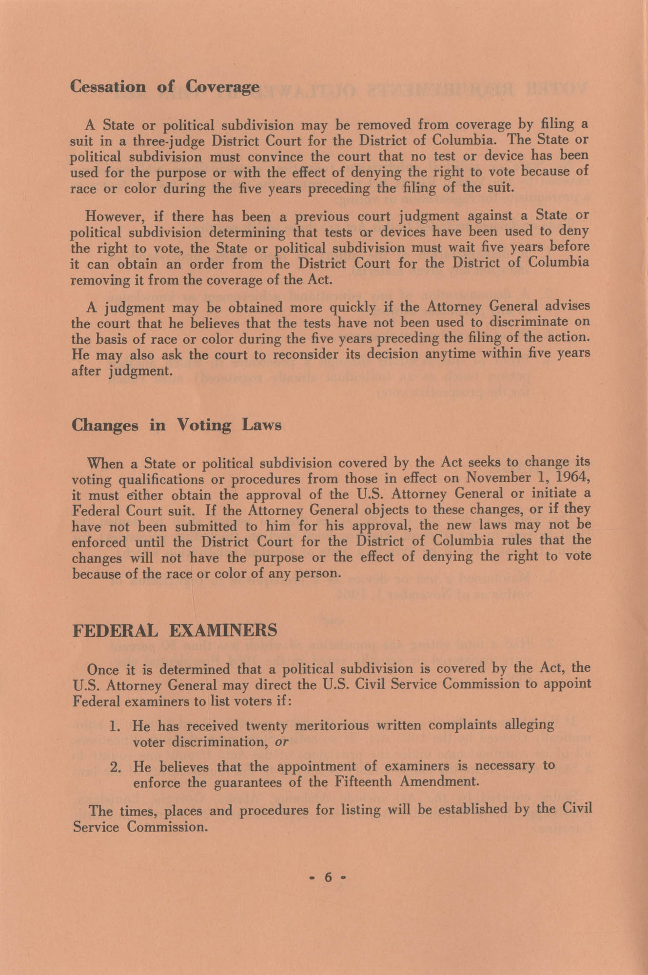The Voting Rights Act of 1965, Page 6