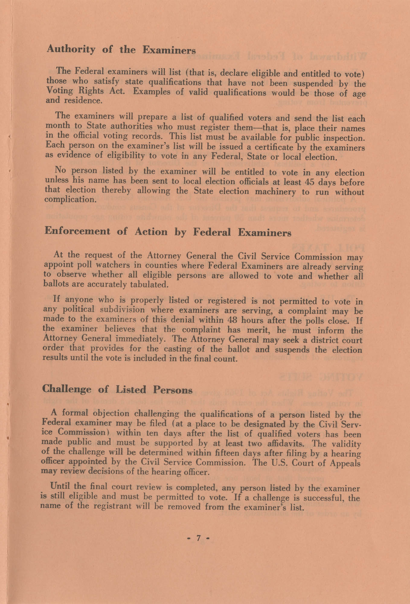 The Voting Rights Act of 1965, Page 7